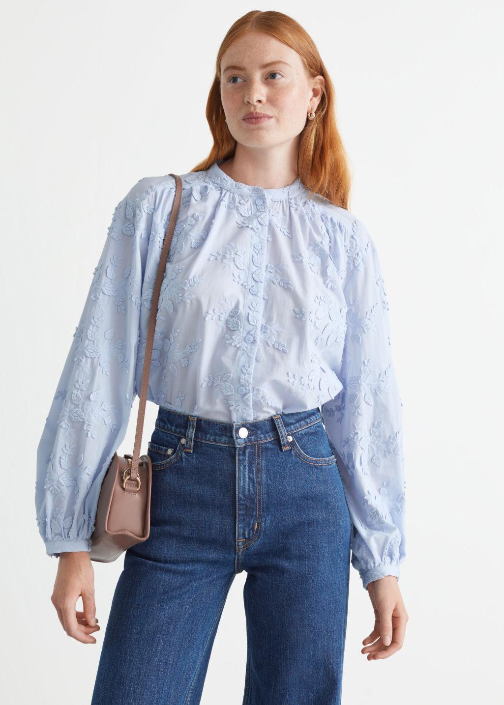 Relaxed Textured Blouse