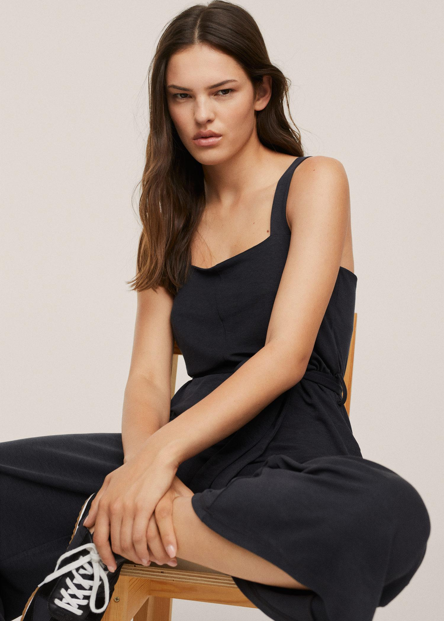 Lyocell jumpsuit with belt 4