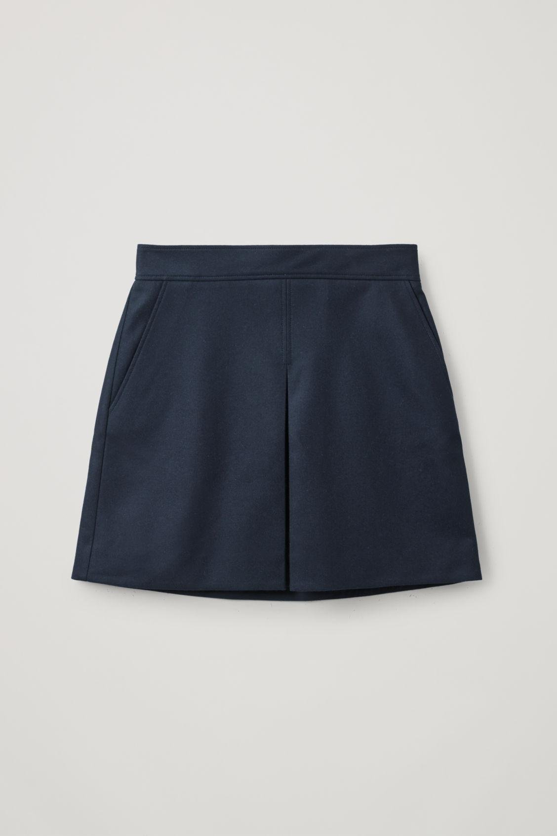 PLEATED A-LINE WOOL-CASHMERE MINI SKIRT 5