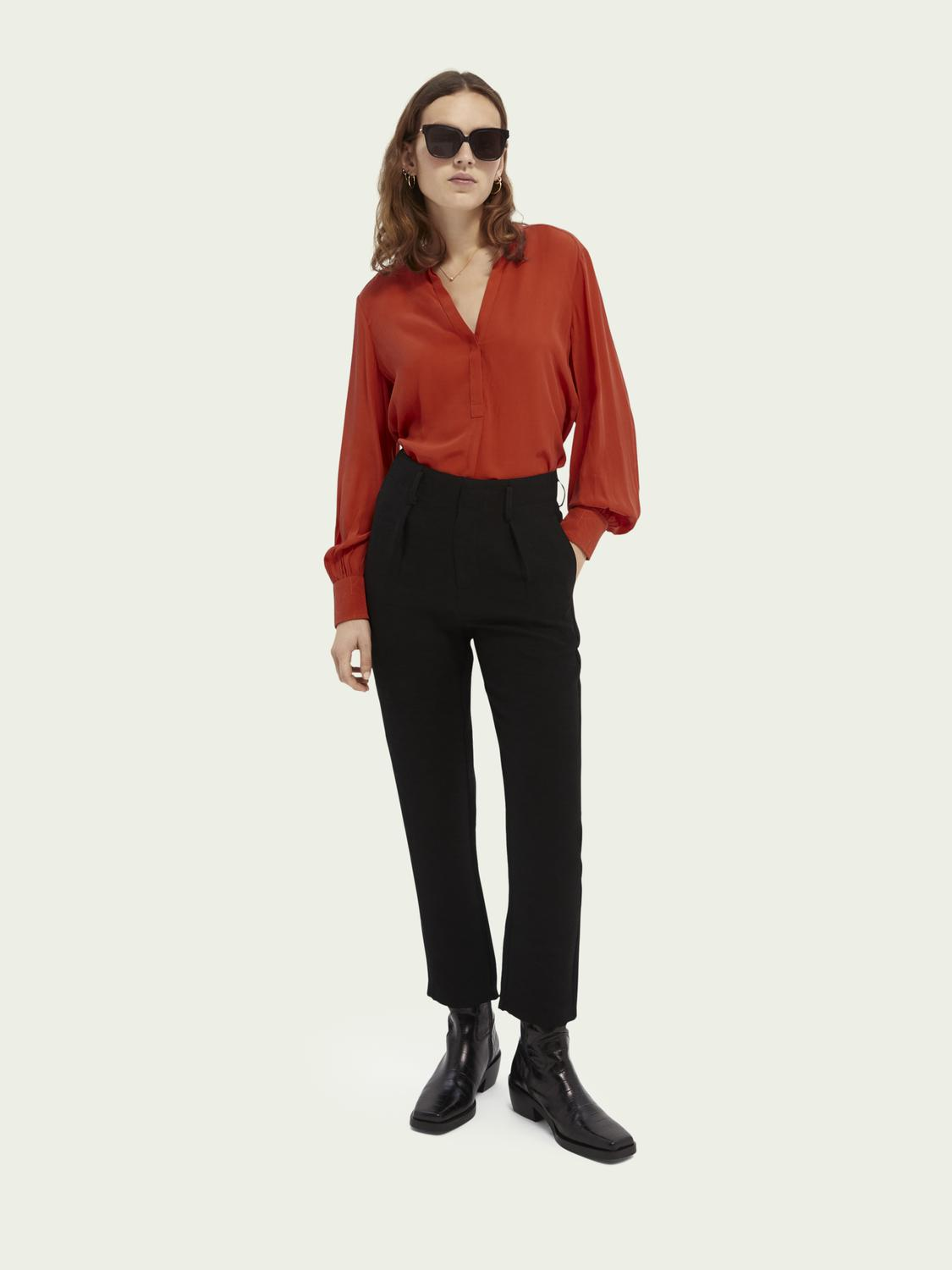 High rise tapered trousers 1