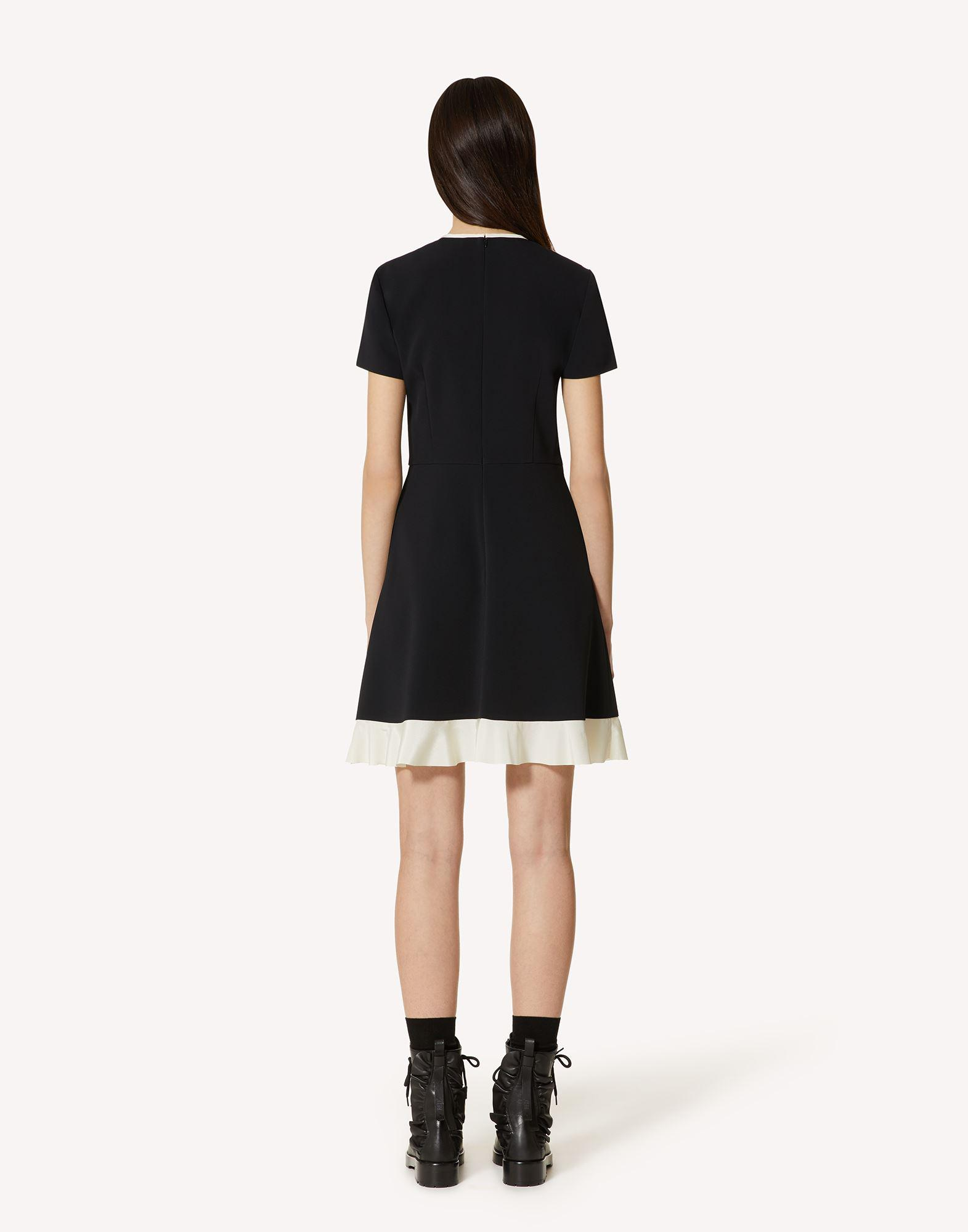 STRETCH FRISOTTINE DRESS WITH BOW DETAILS 1