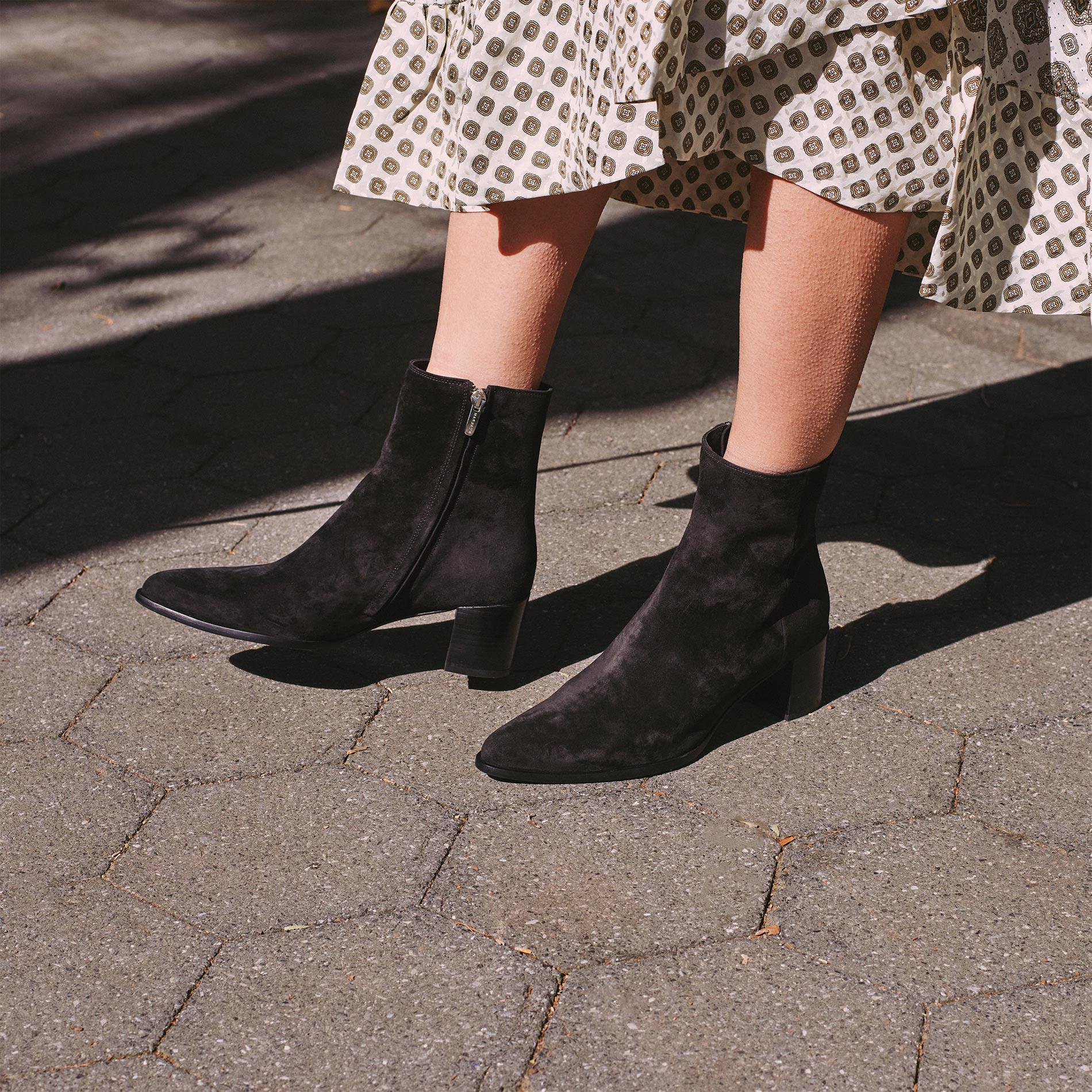 The Downtown Boot - Black Suede 4