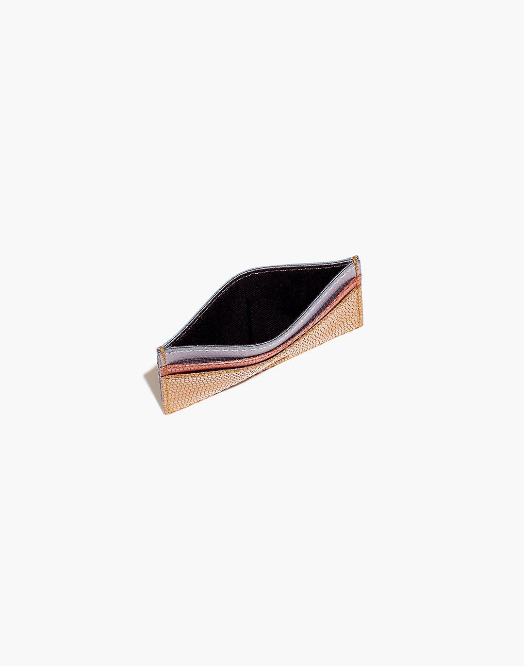 The Leather Card Case: Colorblock Lizard Embossed Edition 1