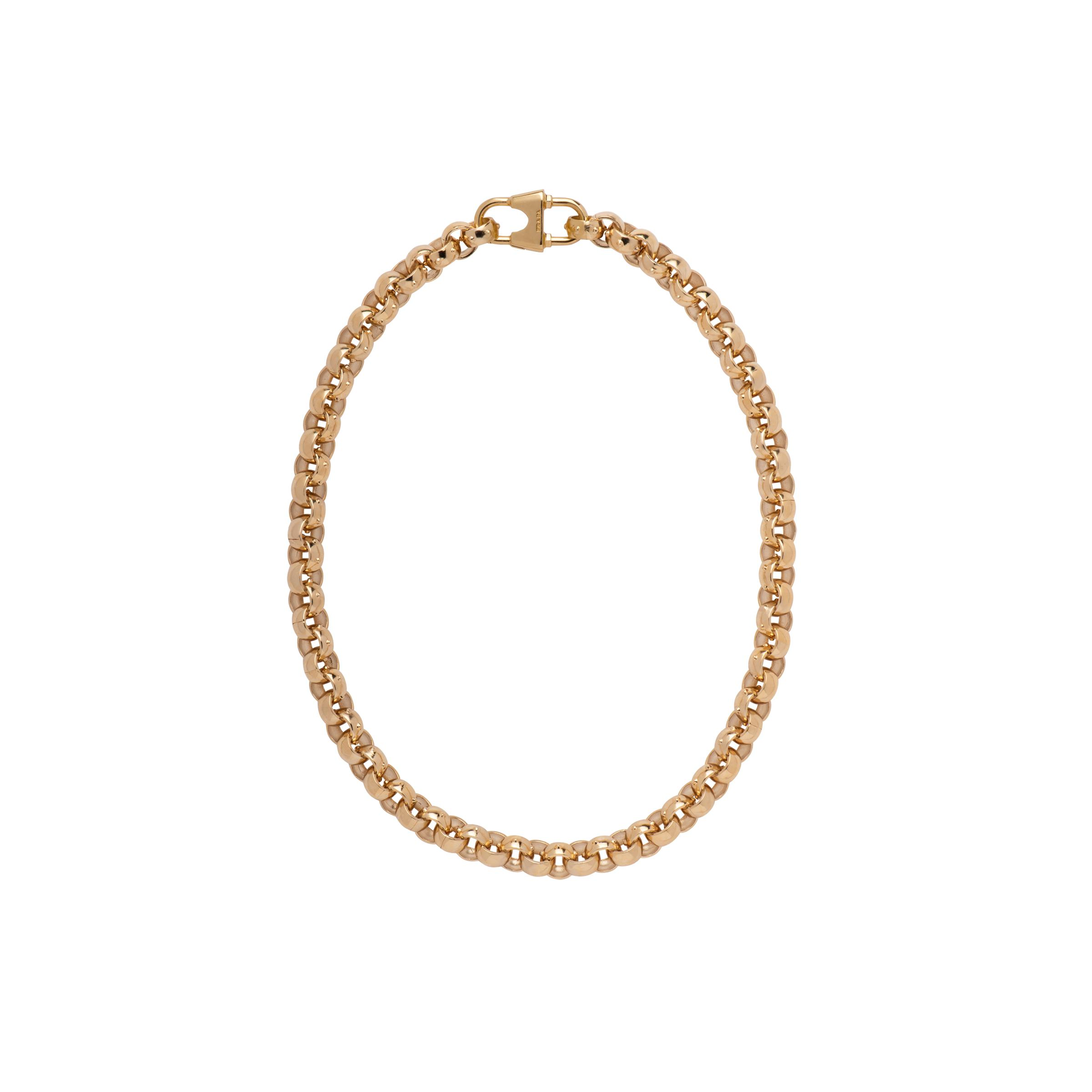 Chain Necklace With Logo Women Gold