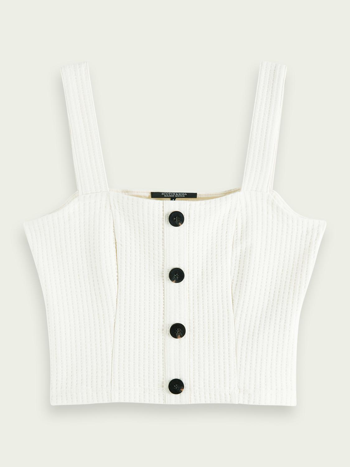 Cropped ribbed top 3
