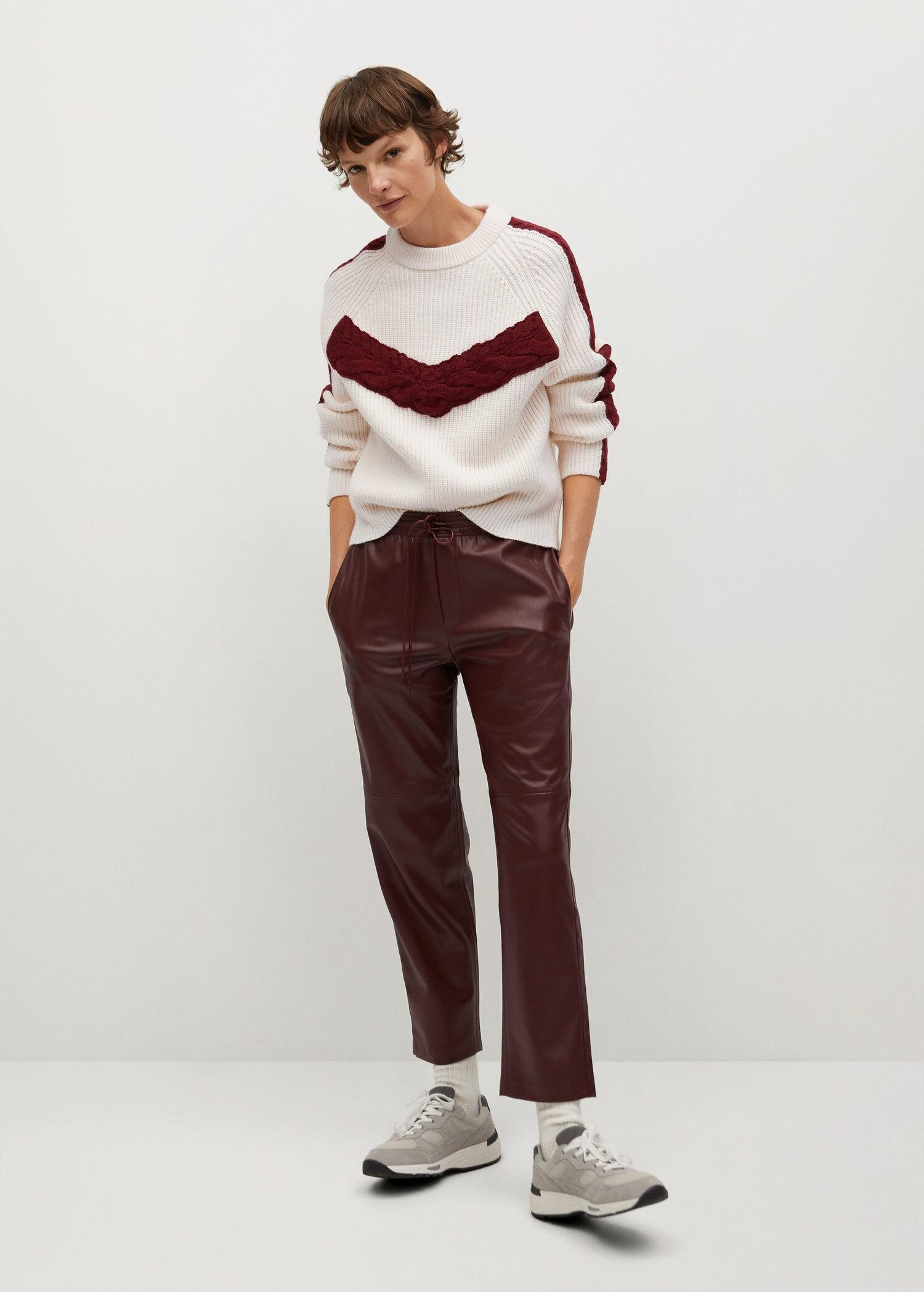 Contrasting knit sweater 1