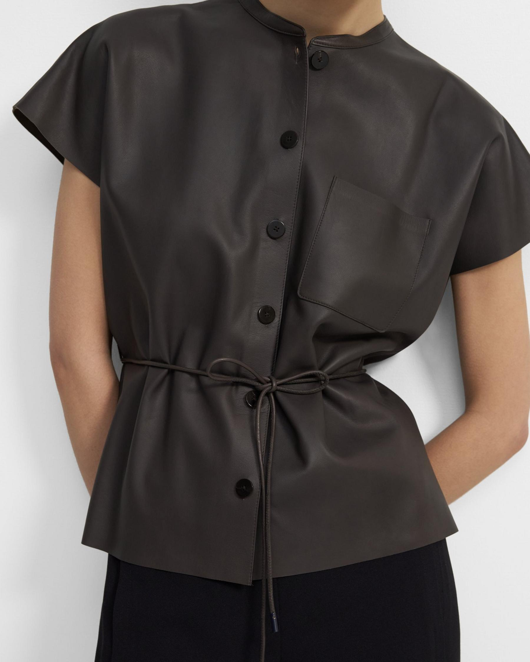 Triangle Shirt in Paper Faux Leather 1