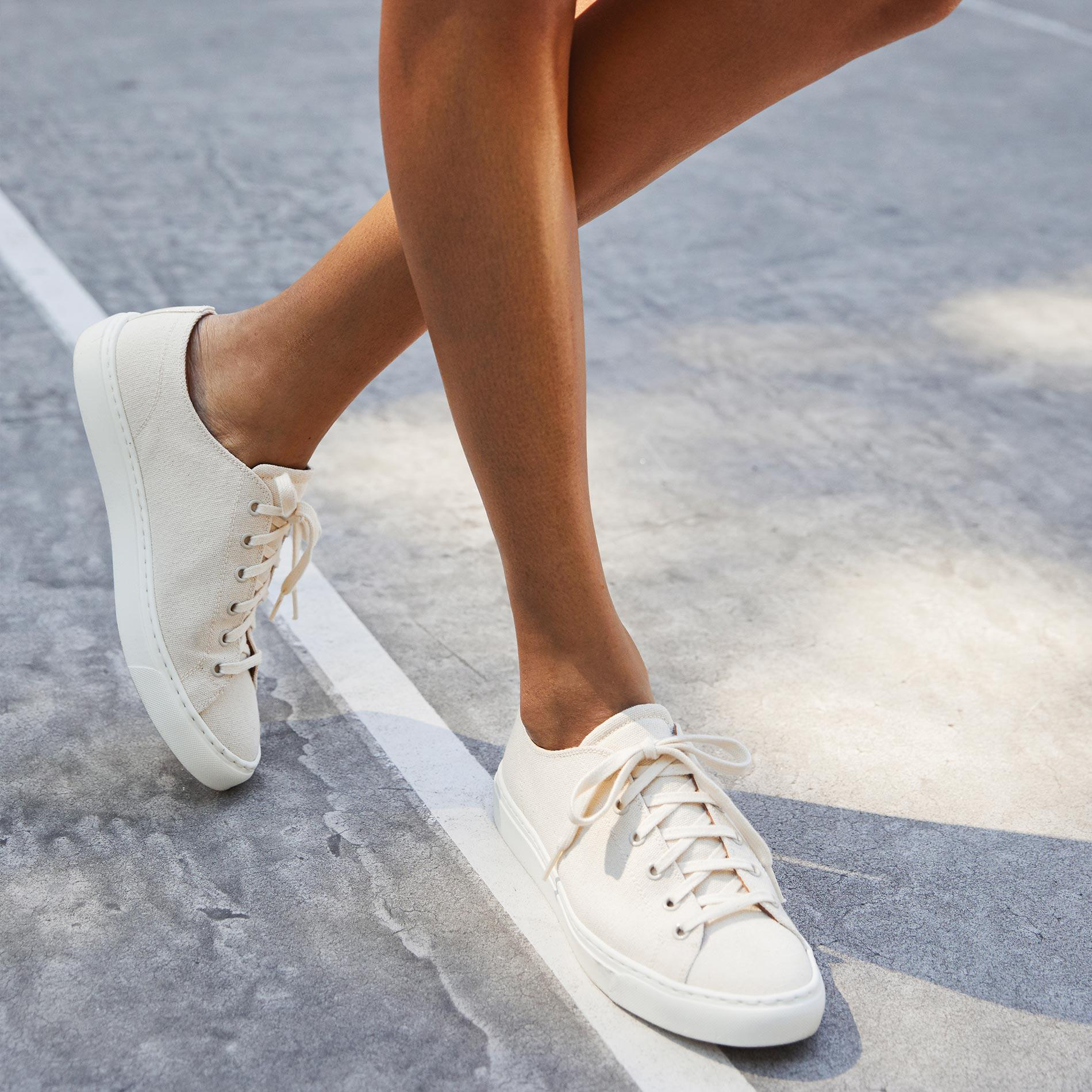 The Summer Sneaker - Ivory Canvas 6