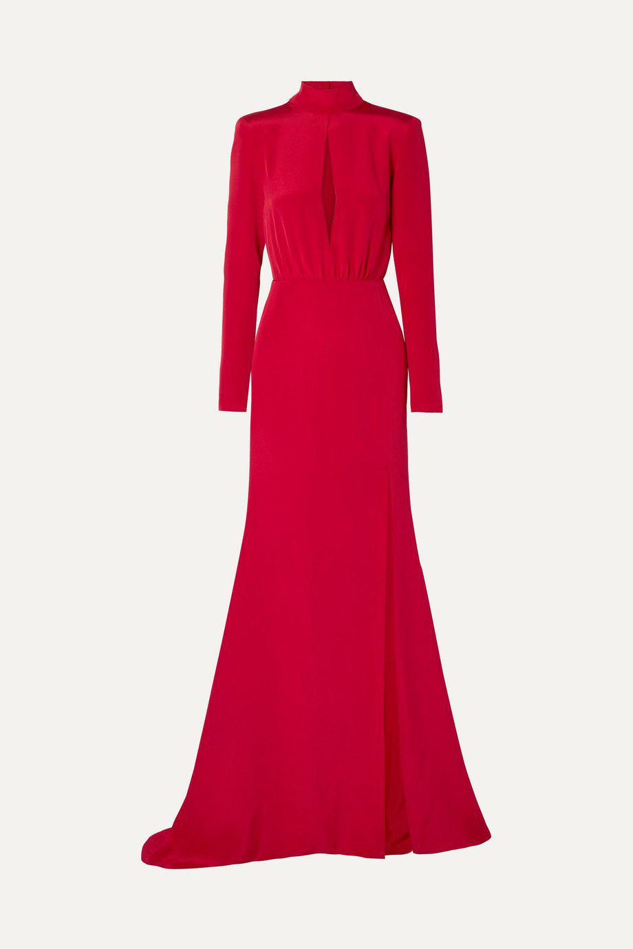 CREPE KEYHOLE GOWN 3