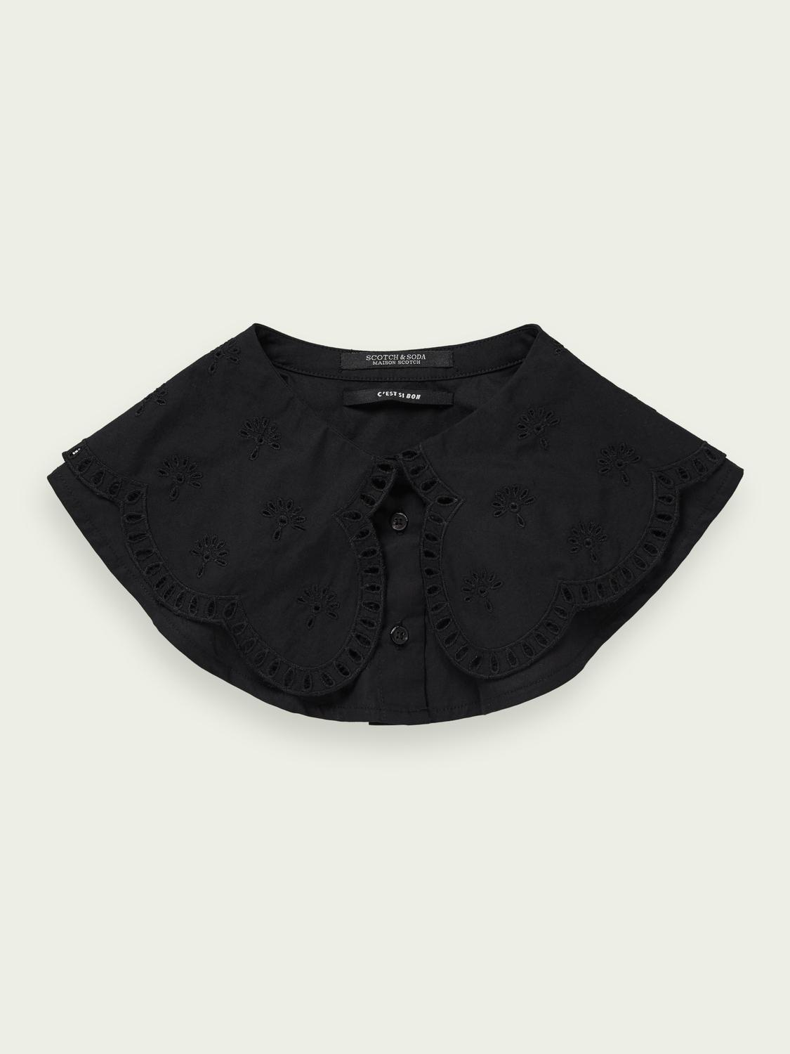 Loose broderie anglaise organic cotton collar