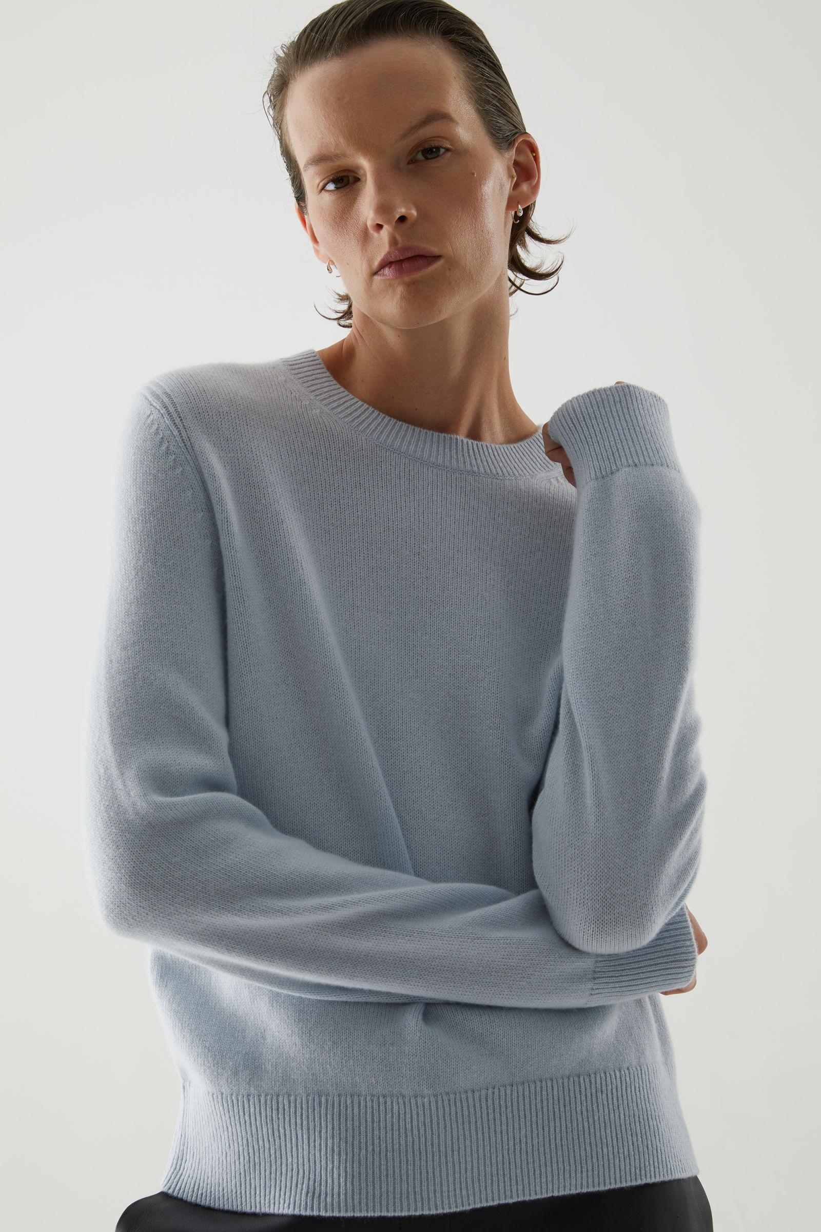 CASHMERE RIBBED DETAIL SWEATER