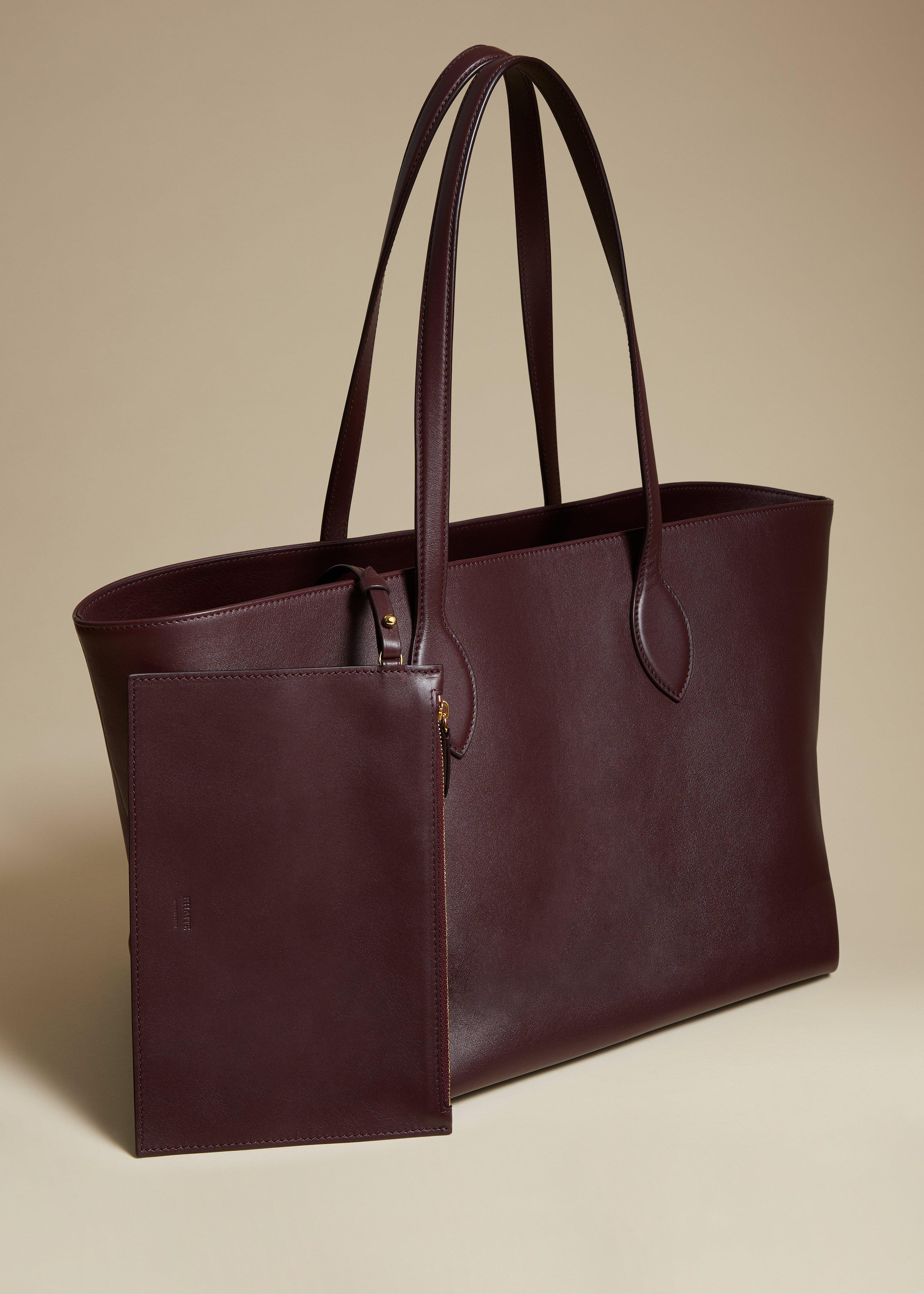 The Florence Tote in Deep Red Leather 1