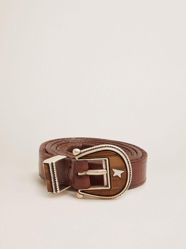 Dark brown Rodeo belt with tone-on-tone buckle