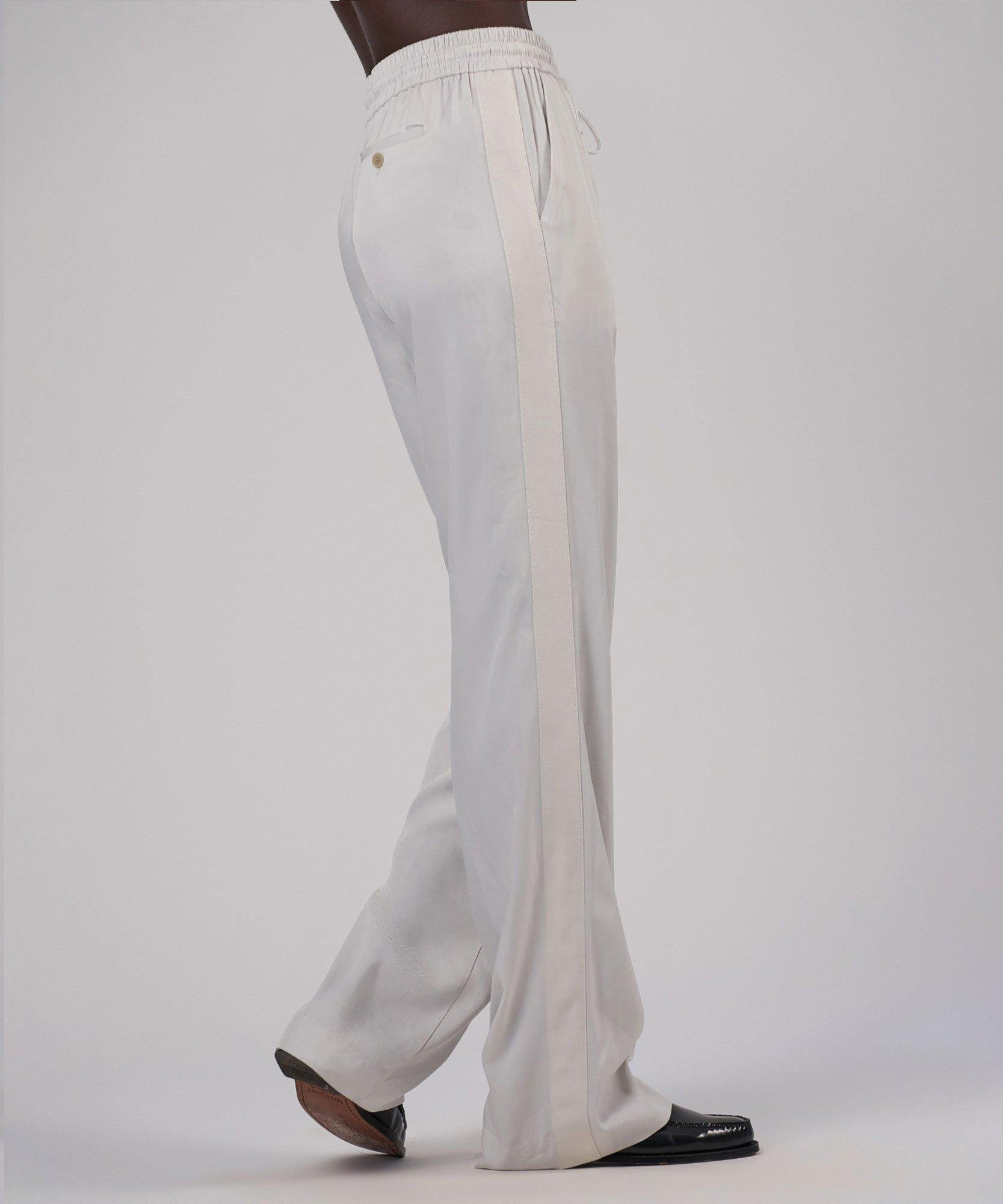 Viscose Twill Wide Leg Pull-On Pant - Gesso 3