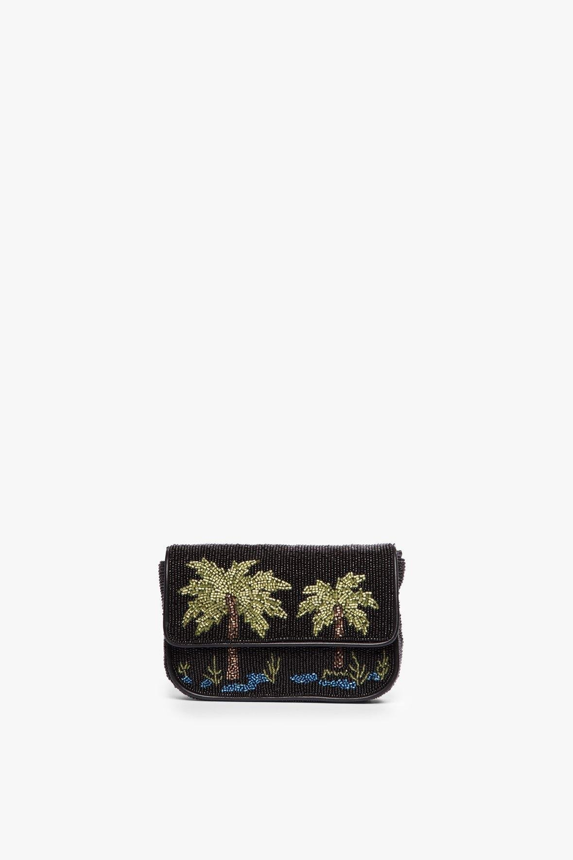 MINI TOMMY BEADED CHAIN BAG | PALM 3