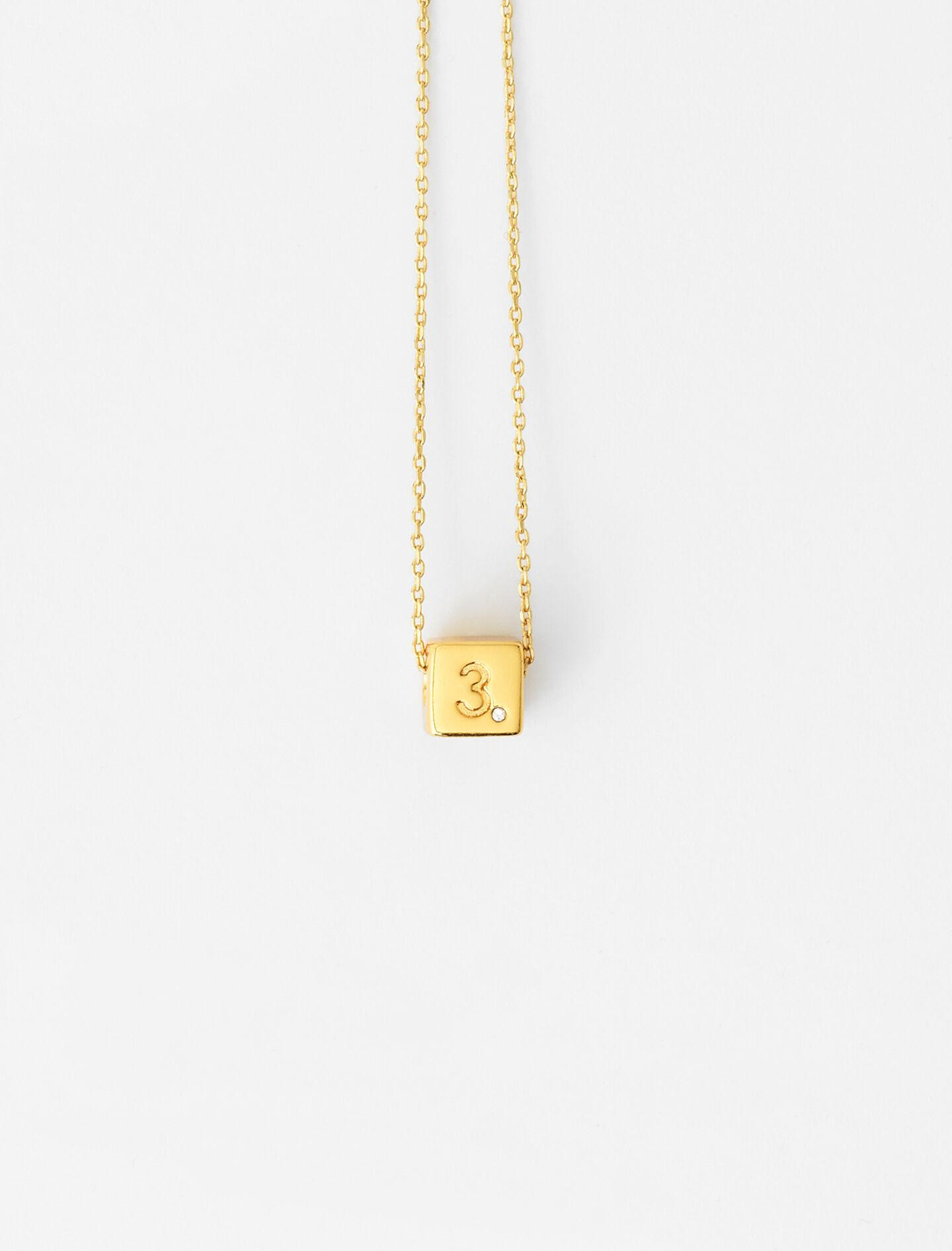 NUMBER 3 DICE NECKLACE