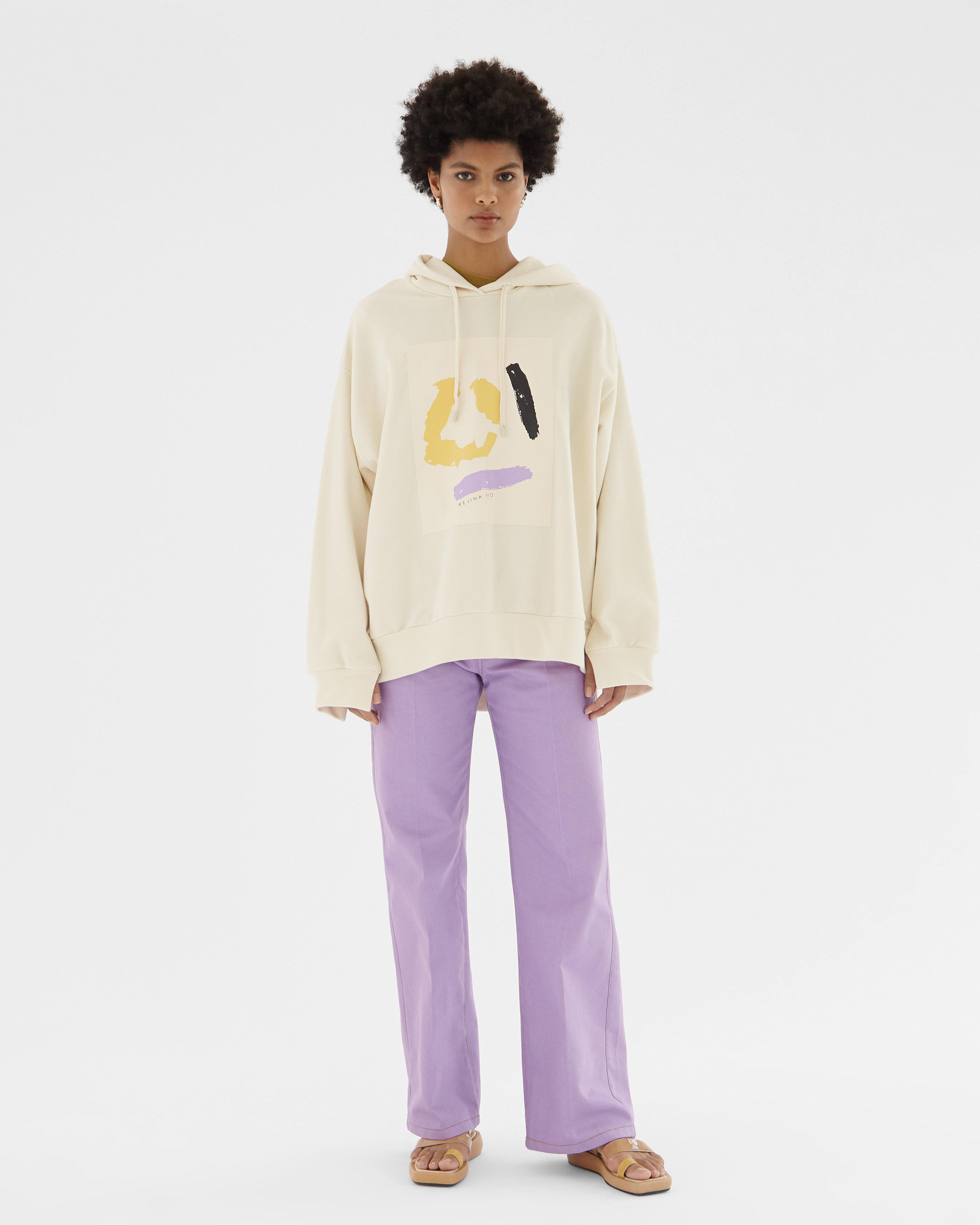 Casey Hoodie Organic French Terry Cotton Ivory 1