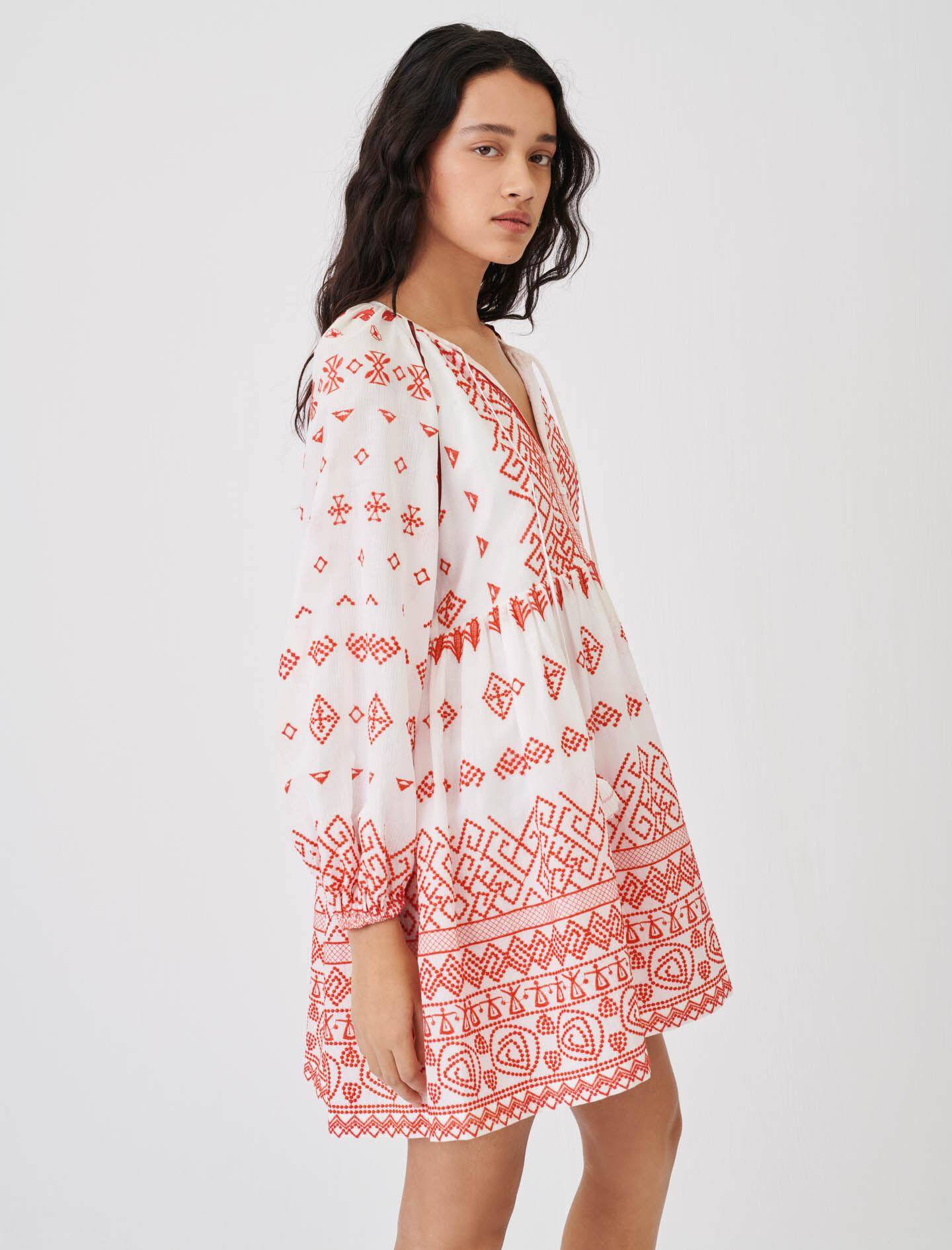 BABY-DOLL STYLE EMBROIDERED DRESS