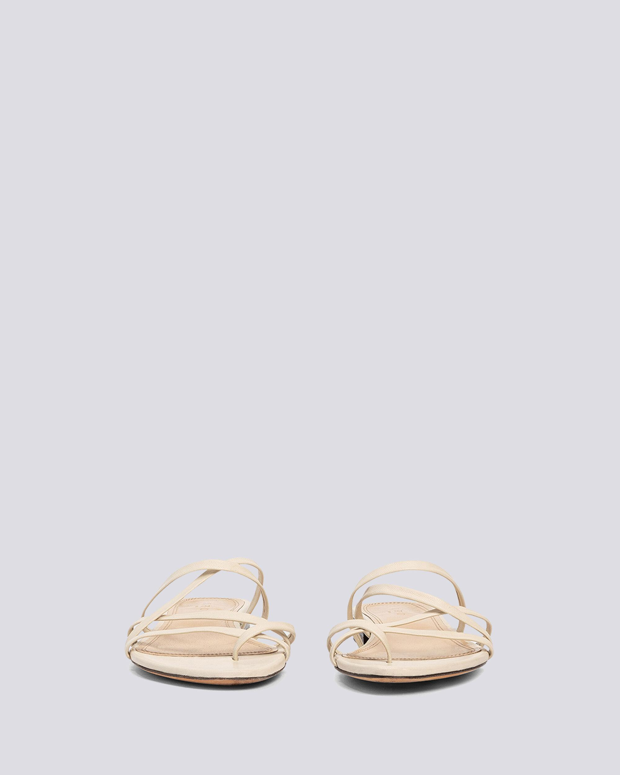 LEV STRAPPY FLAT LEATHER SANDALS 2