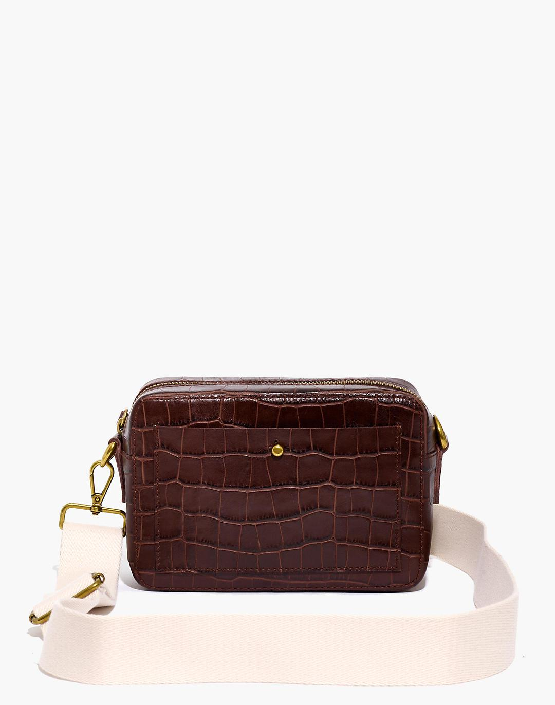 The Transport Camera Bag: Croc Embossed Leather Edition