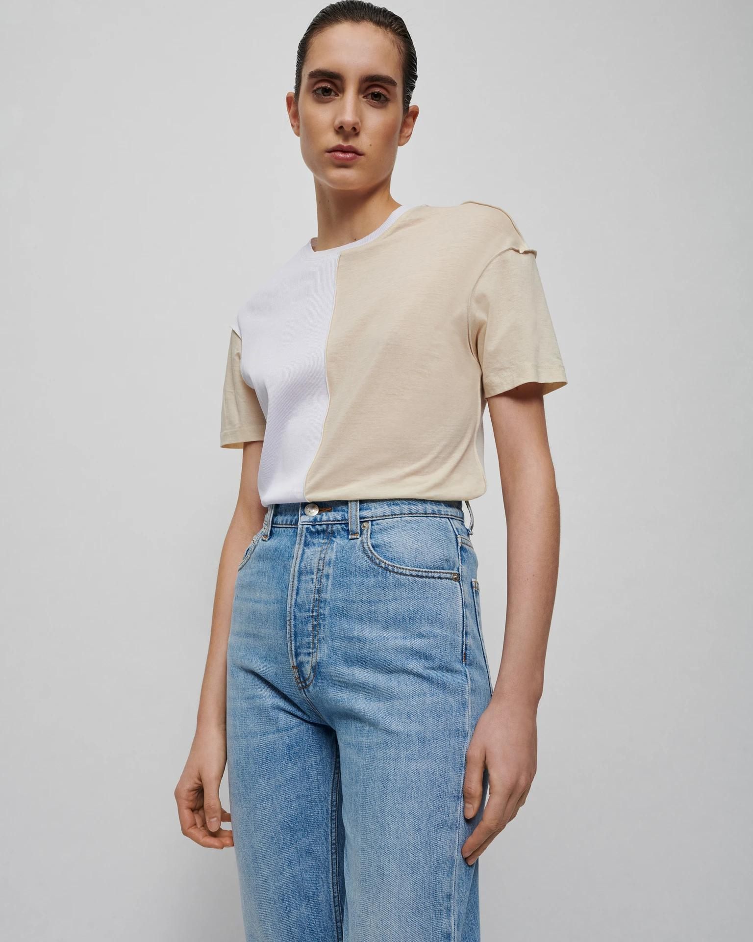 HOVE - Upcycled jersey T-shirt - Creme 2