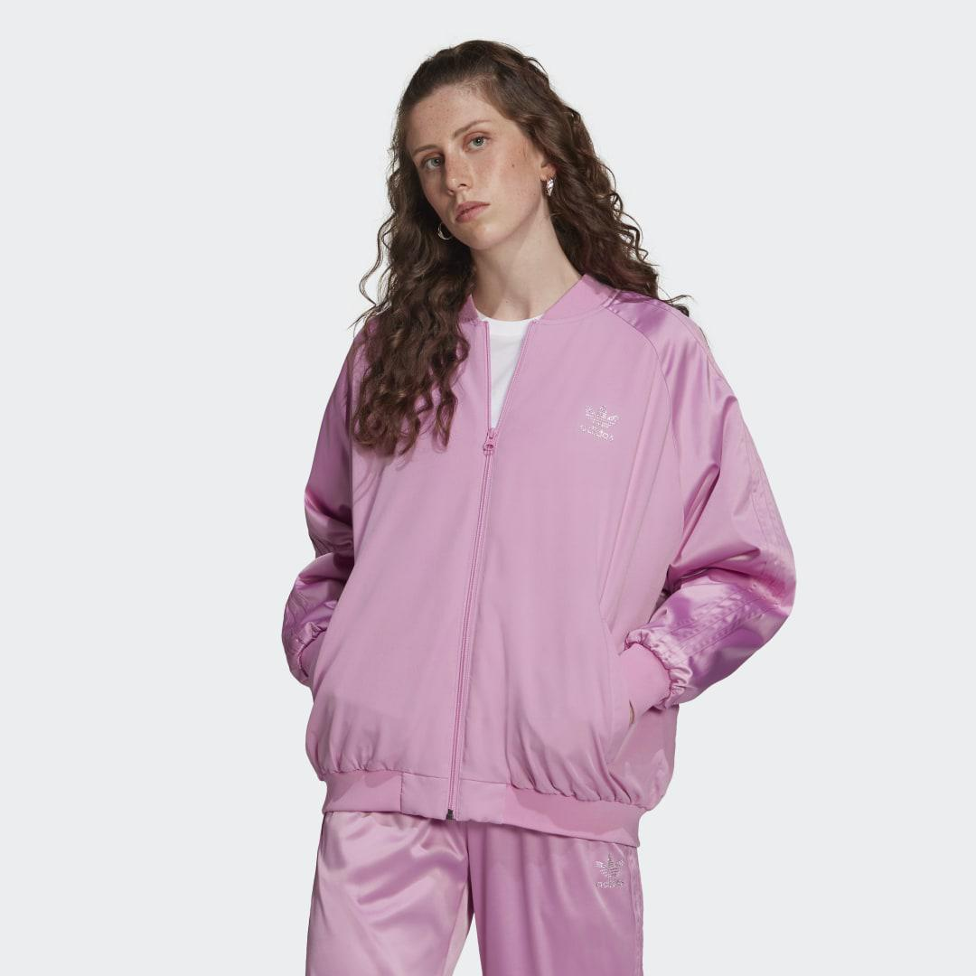 2000 Luxe Bomber Jacket Bliss Orchid S - Womens Originals Jackets