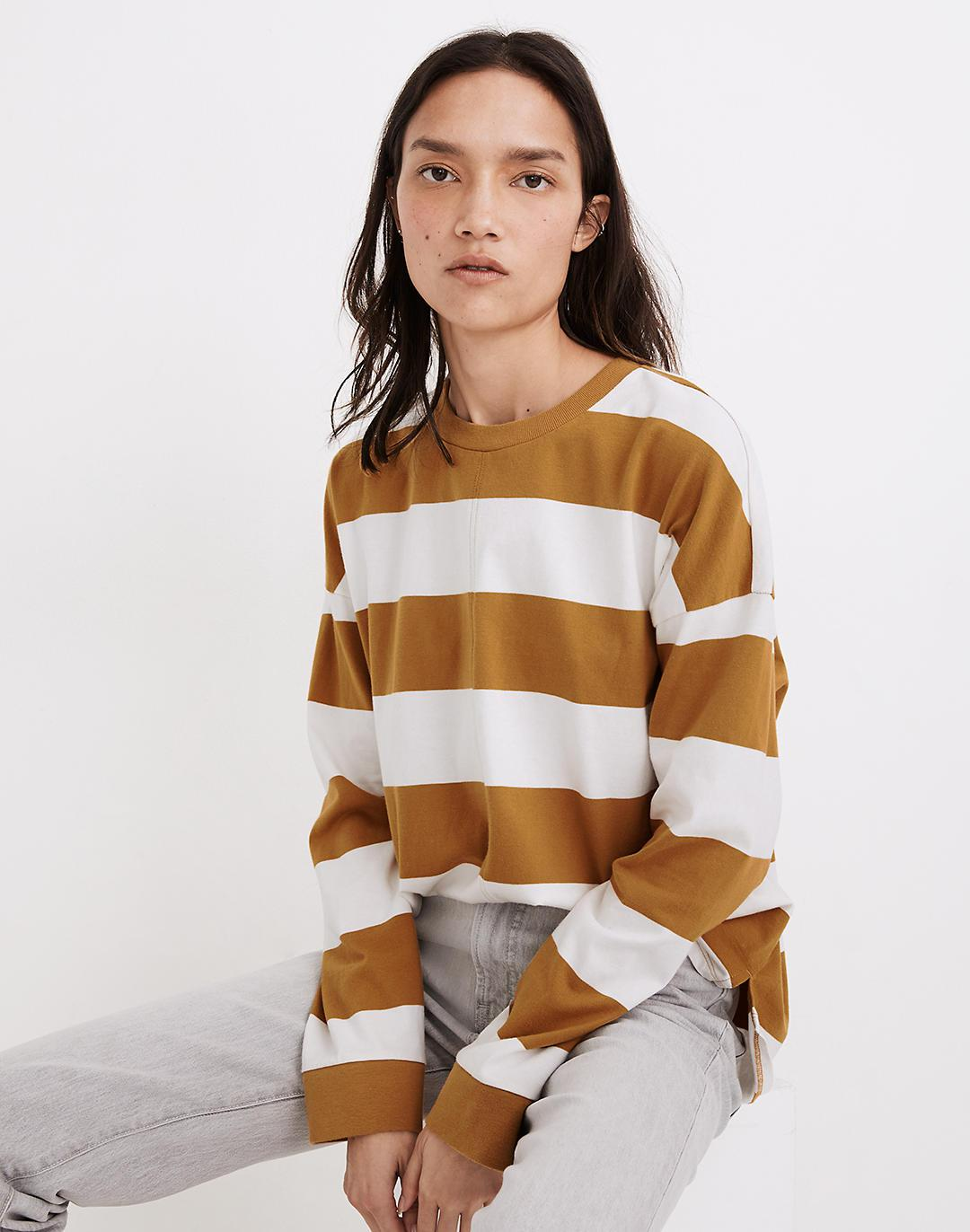 (Re)sourced Cotton Newville Tee in Lindell Stripe