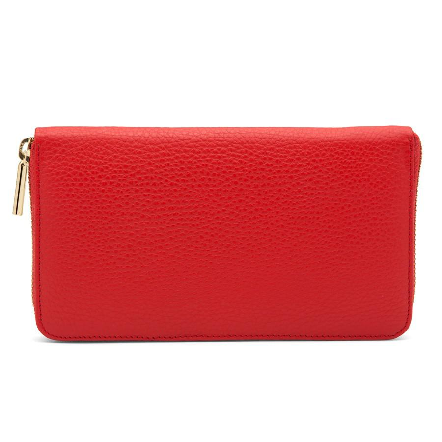 Women's Classic Zip Around Wallet in Red | Pebbled Leather by Cuyana