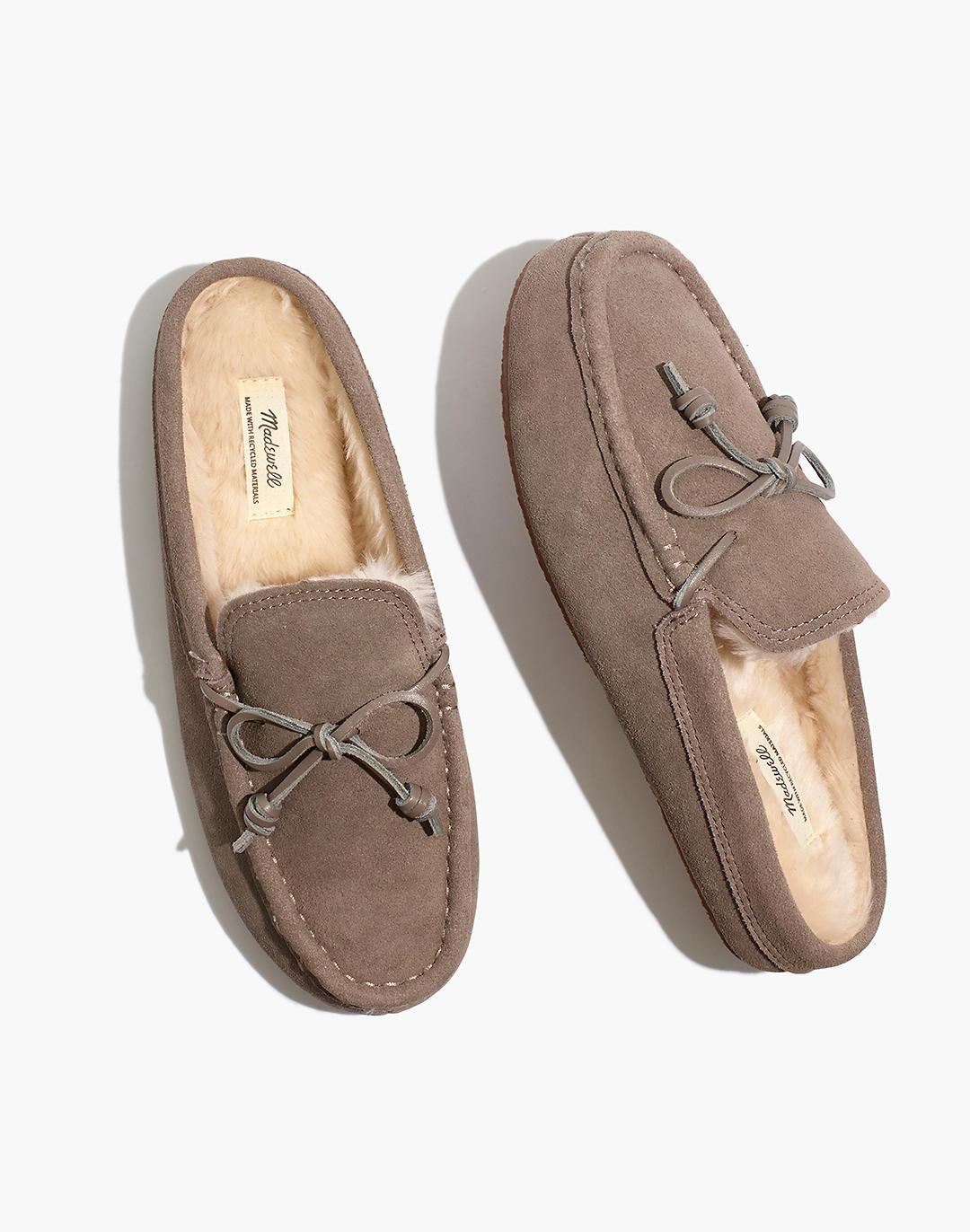 Suede Moccasin Scuff Slippers 0