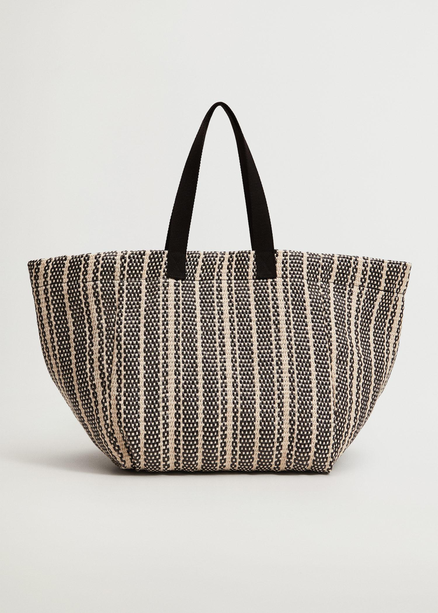 Recycled fabric shopper bag