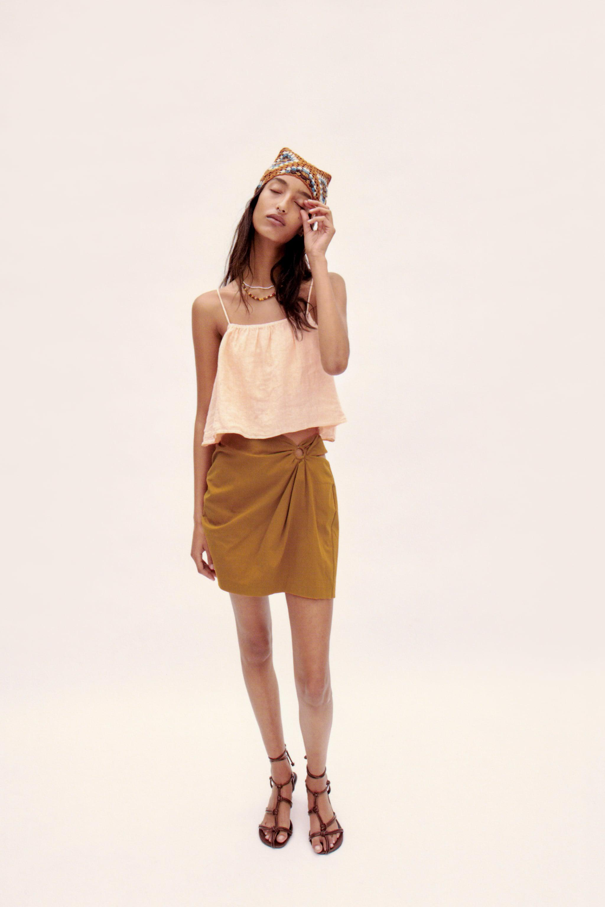 CROPPED LINEN TOP 0