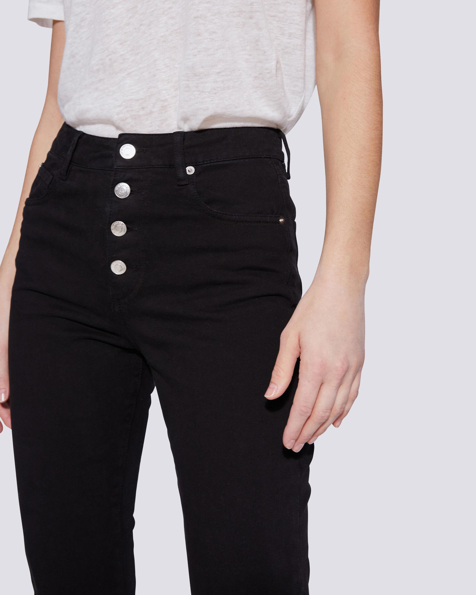 ESME HIGH RISE BUTTON FRONT CROPPED JEANS 3