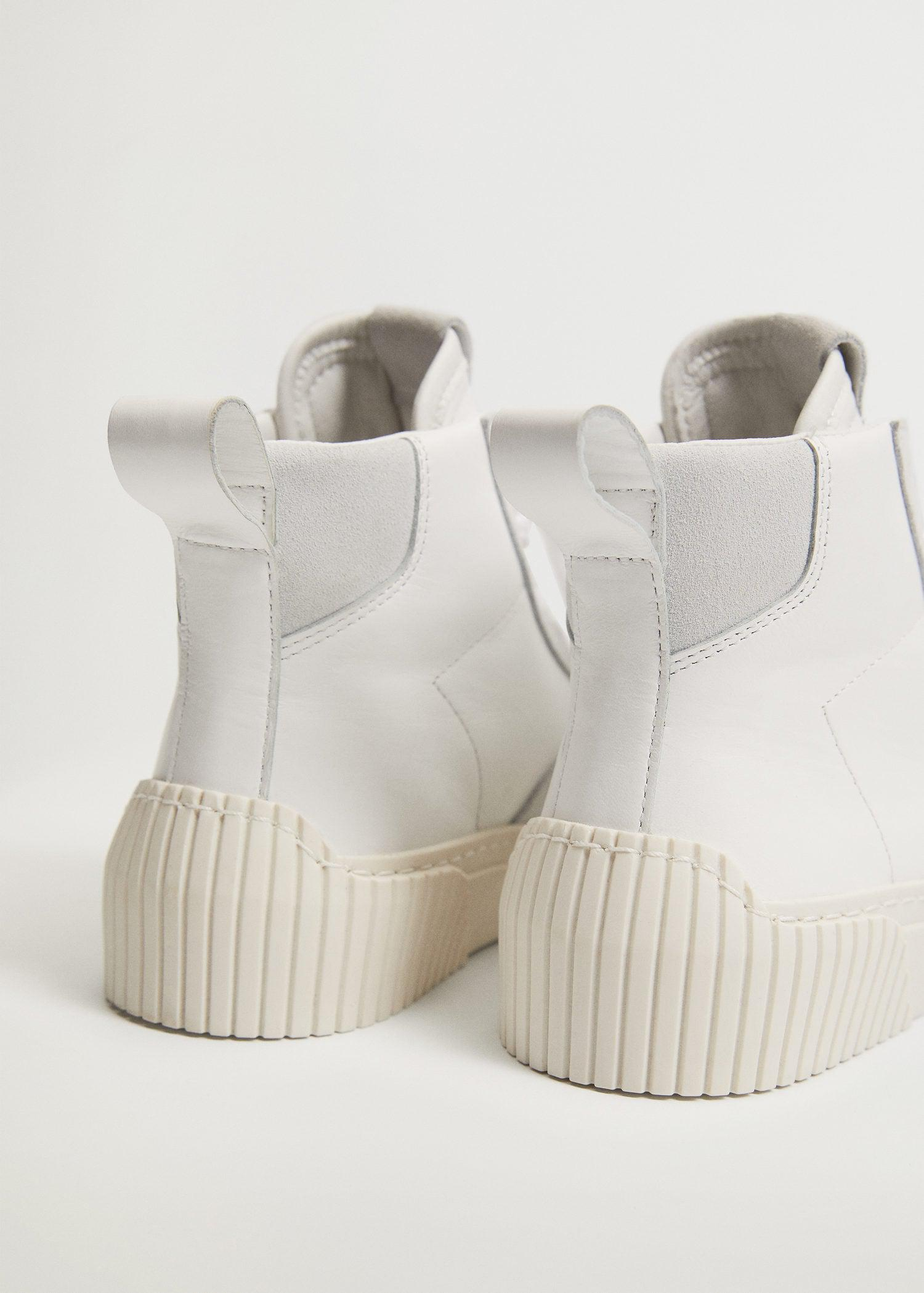 Lace-up leather sneakers 4