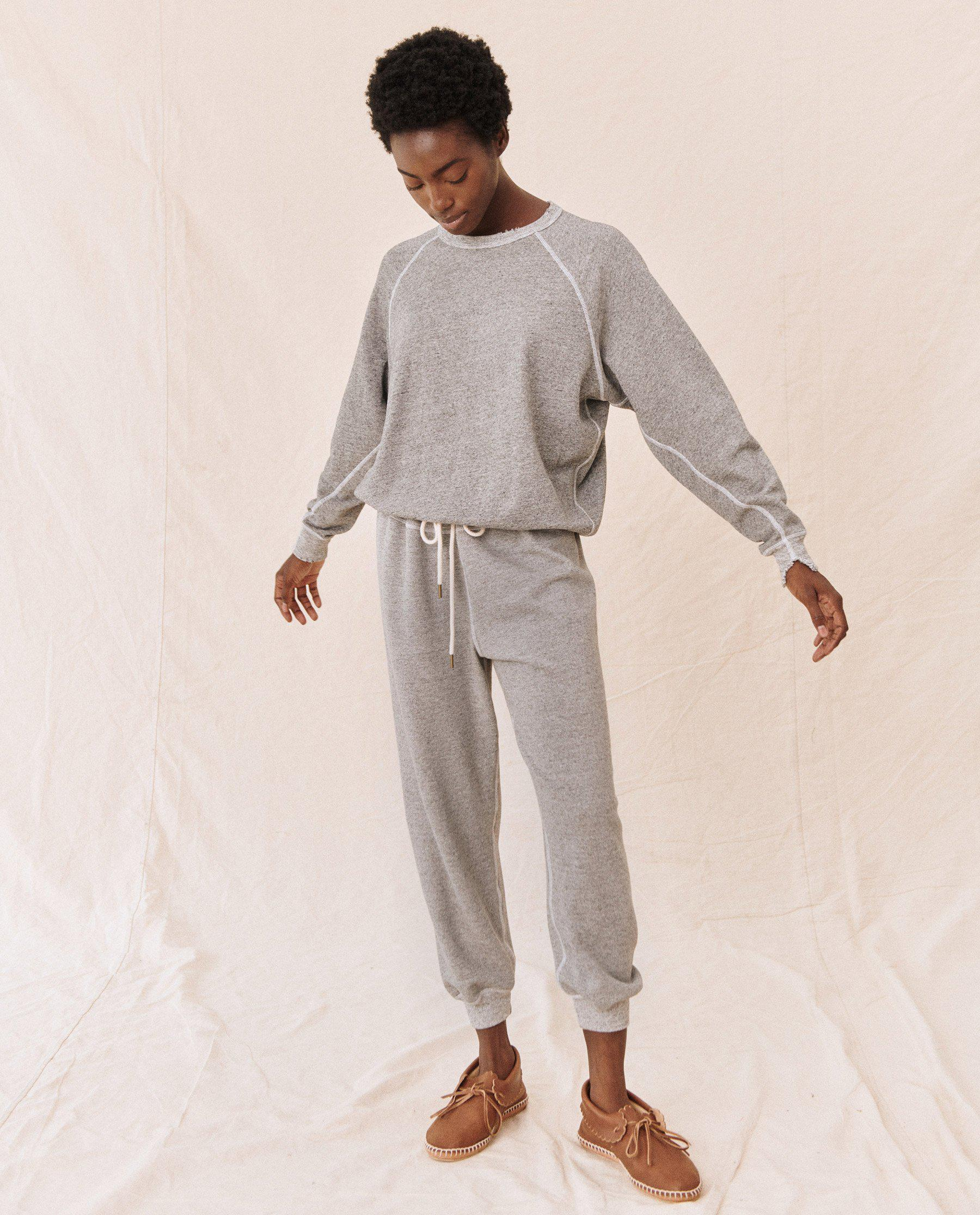 The Cropped Sweatpant. Solid -- Varsity Grey