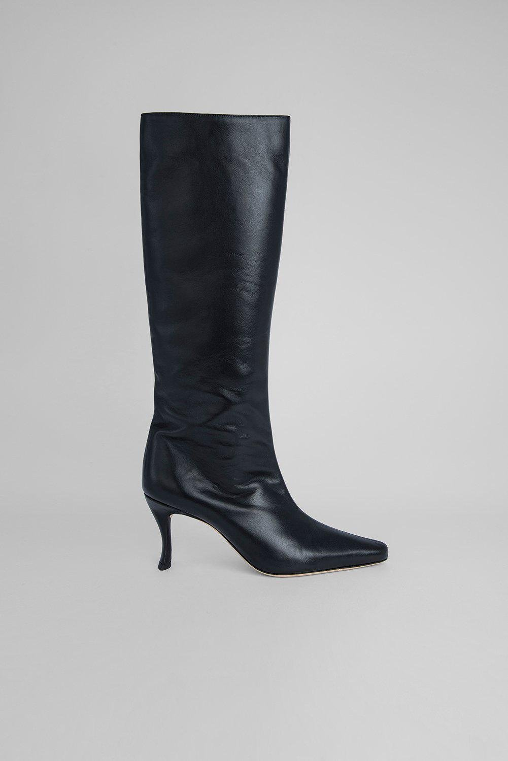 Stevie 42 Black Smooth Calf Leather