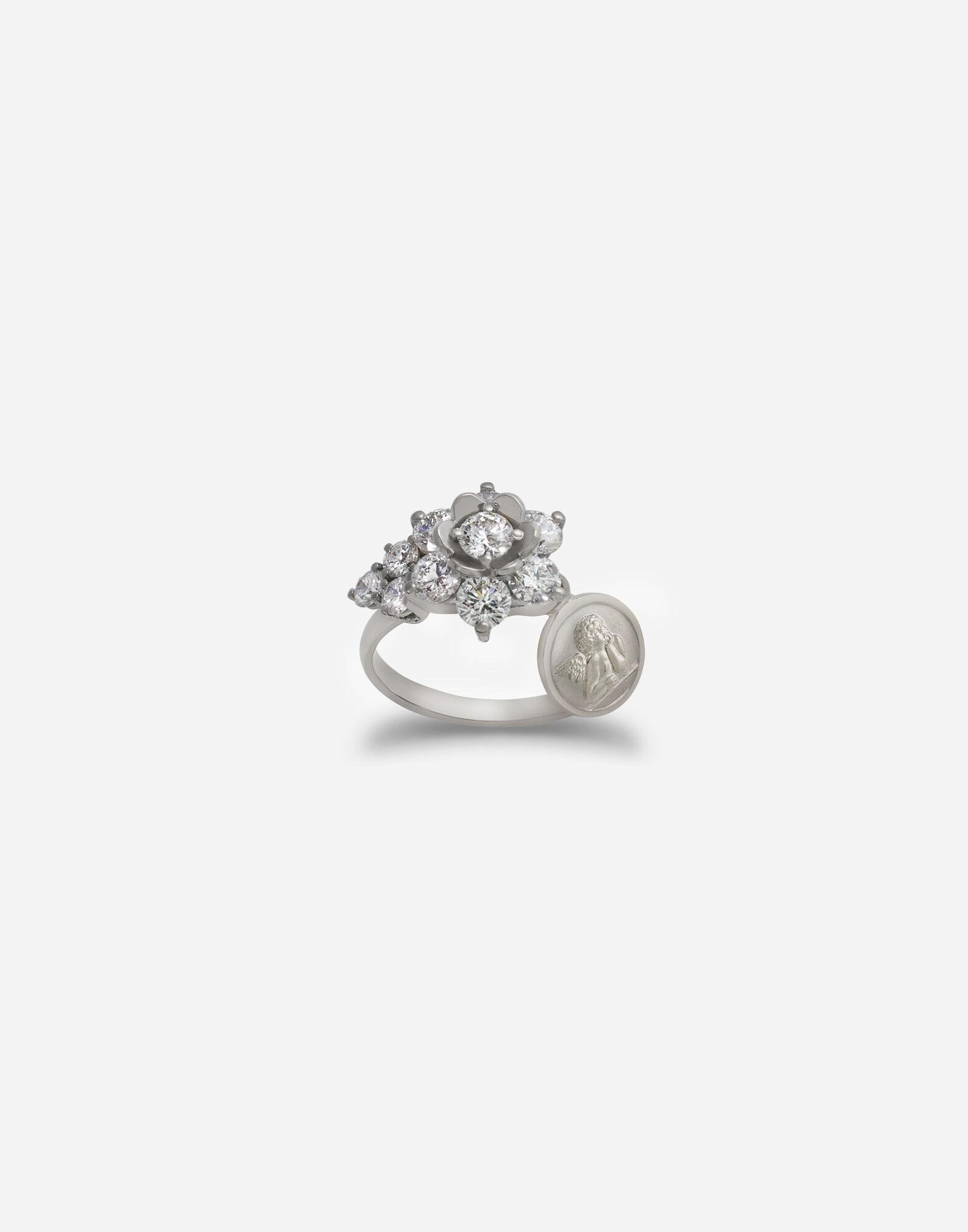 Sicily ring in white gold with diamonds