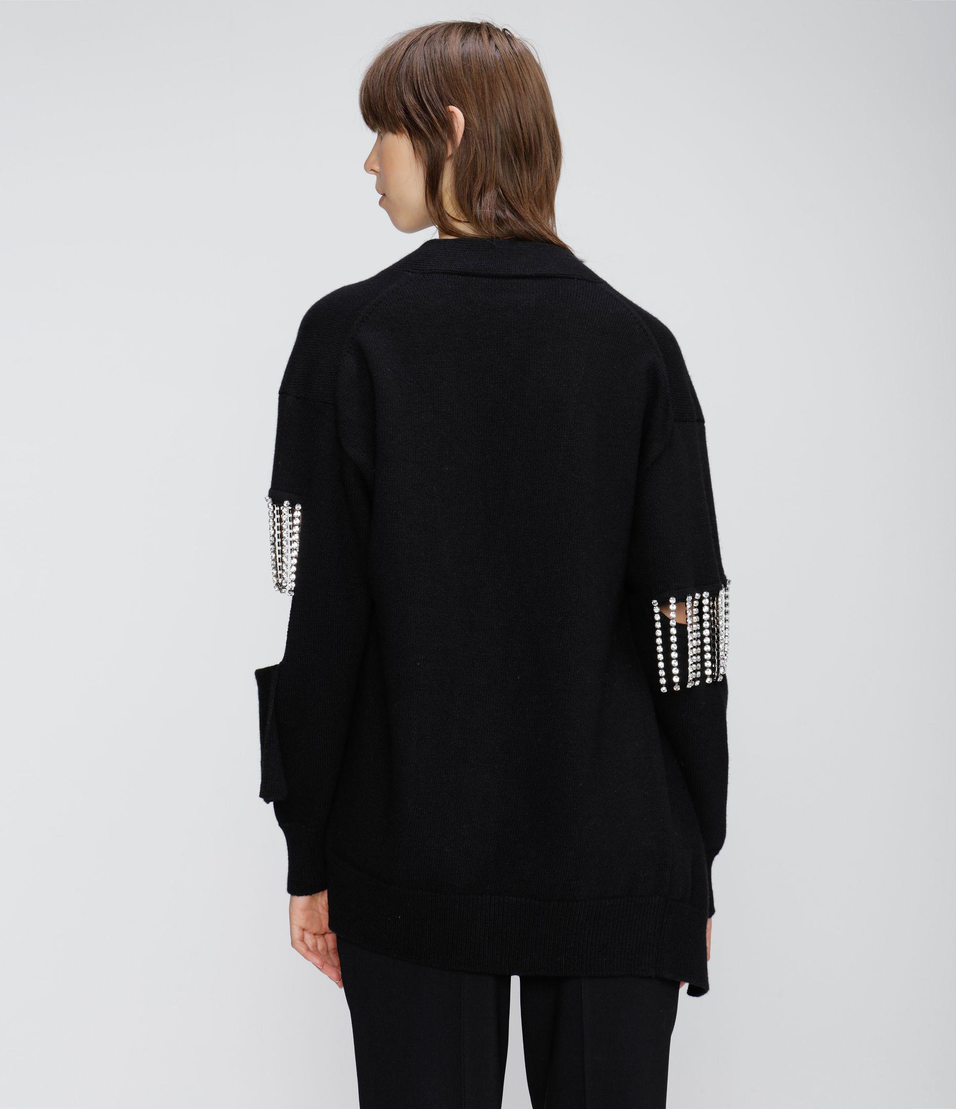 cut-out cupchain knitted cardigan 2