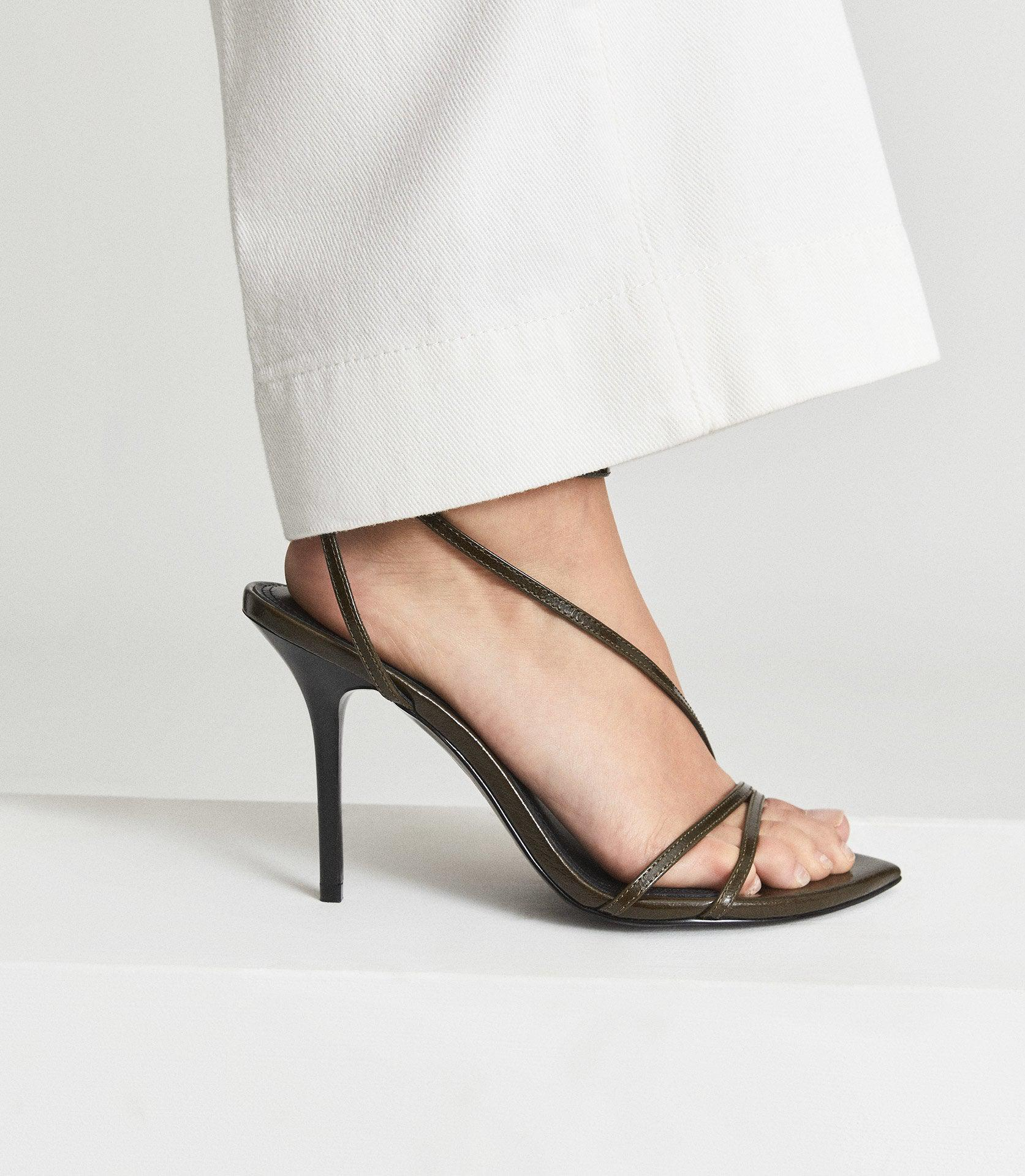 ADELA - LEATHER STRAPPY SANDALS 6