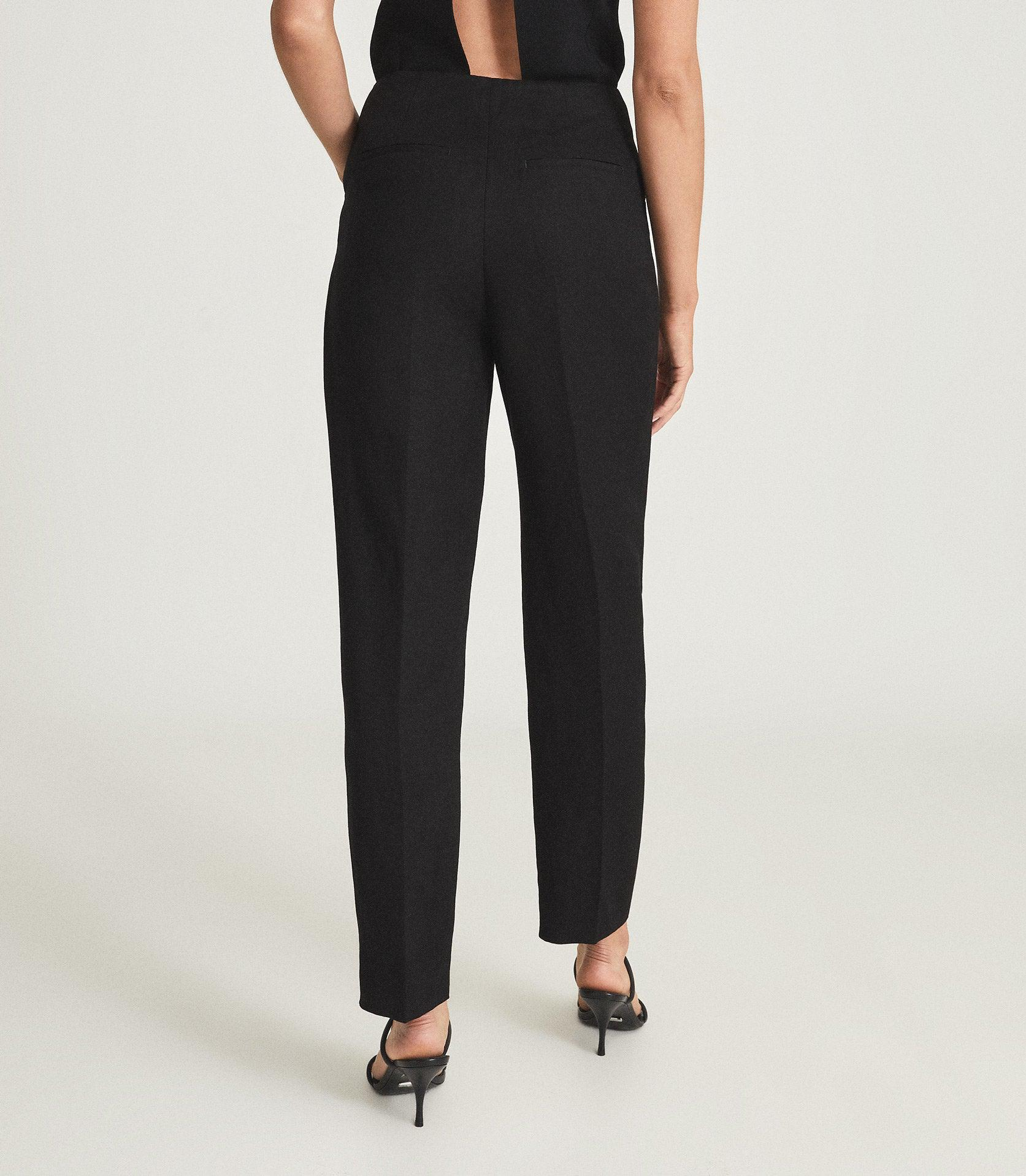 CALLY - LINEN BLEND TROUSERS WITH EXPOSED ZIP 2