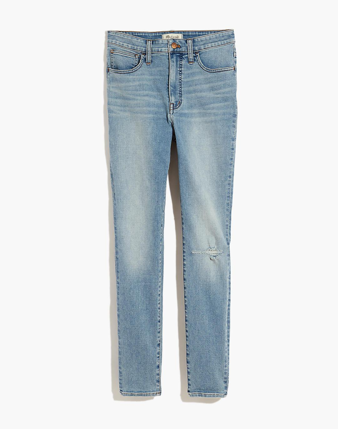 Curvy Roadtripper Authentic Jeans in Benton Wash: Knee-Rip Edition 4