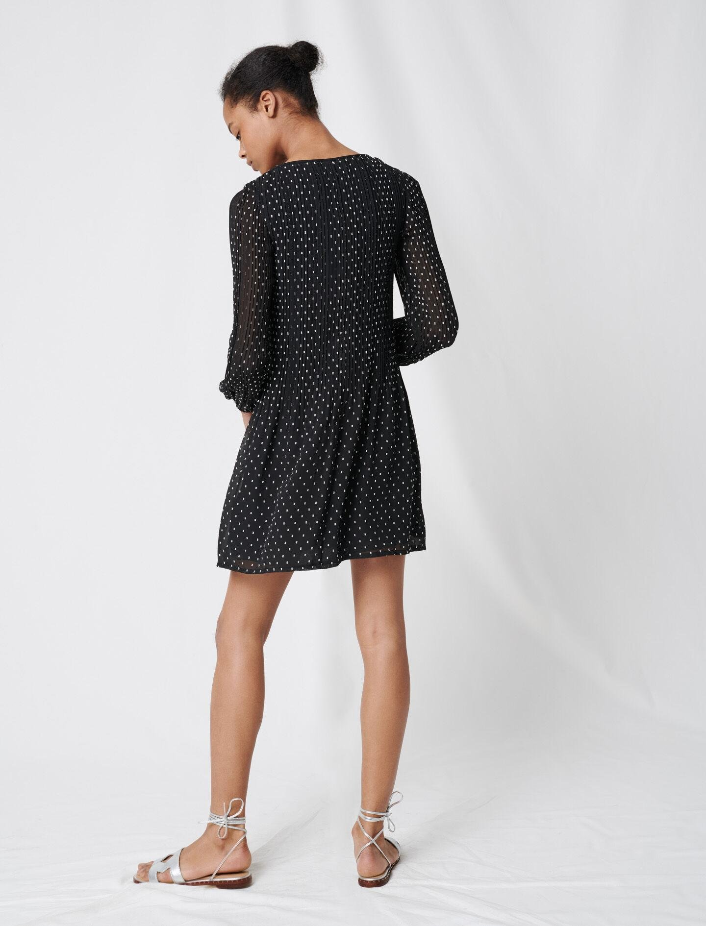 PLEATED AND EMBROIDERED DRESS 3