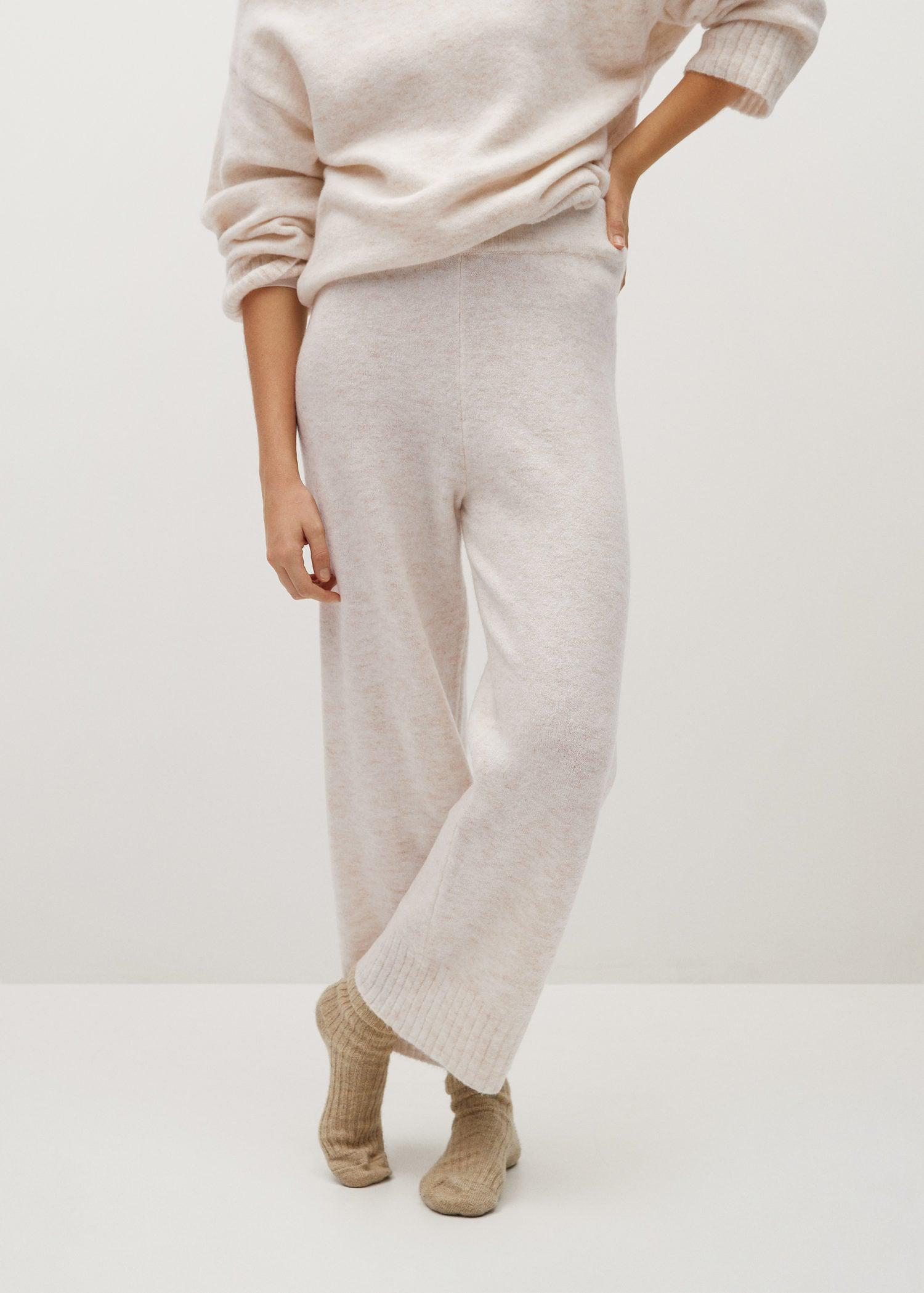 Flecked knitted pants
