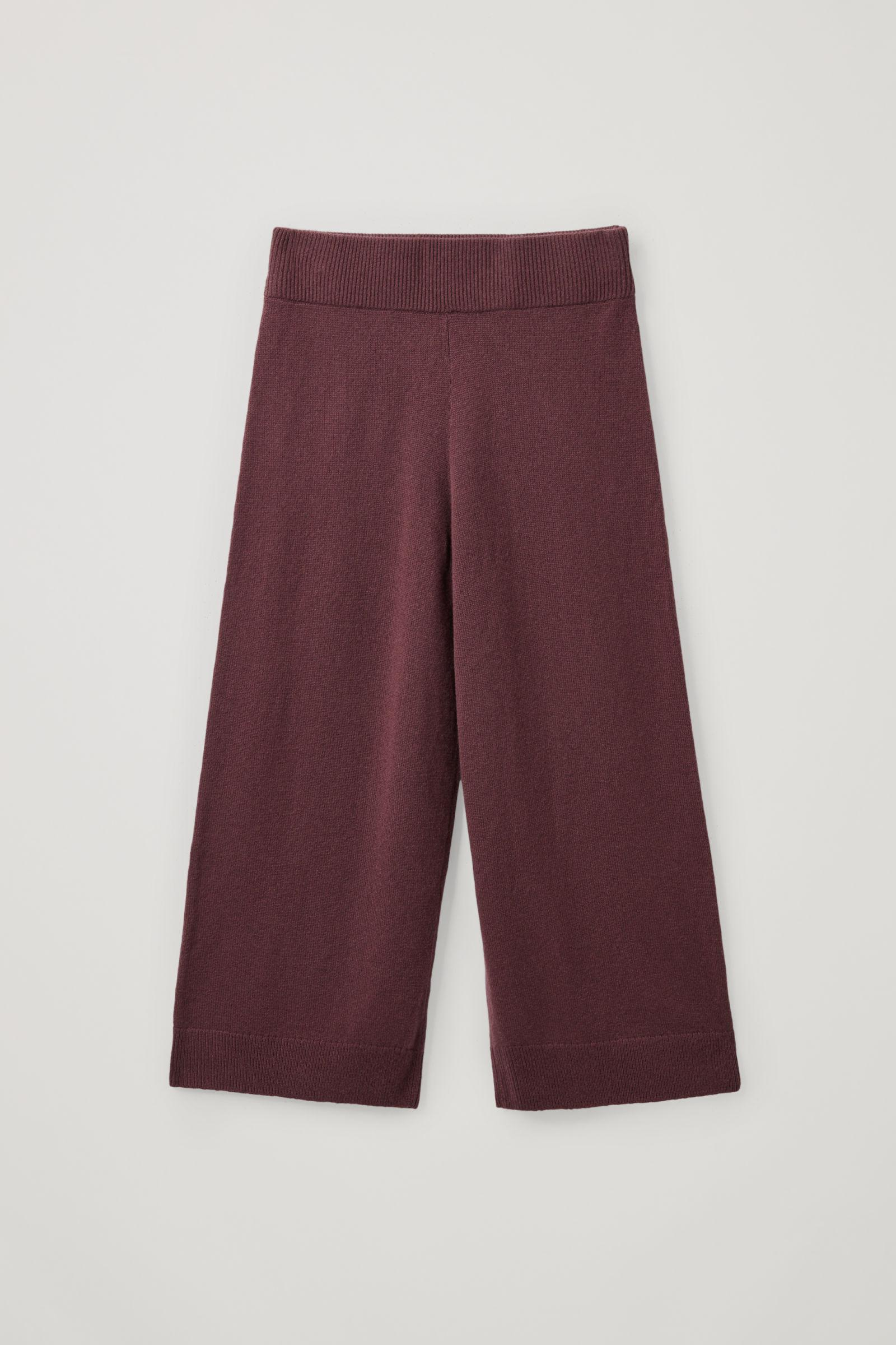 RECYCLED CASHMERE WIDE-LEG PANTS 5