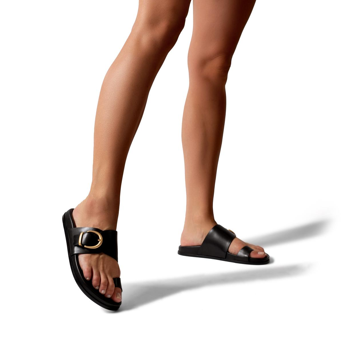 Cyrus   Leather Slide Sandal with Contoured Footbed 3