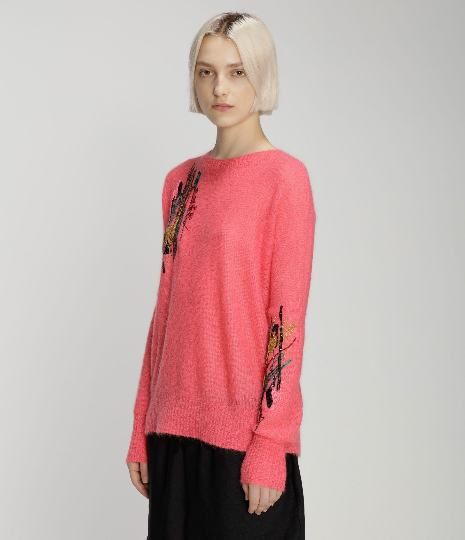 Squiggle sequin mohair sweater 1