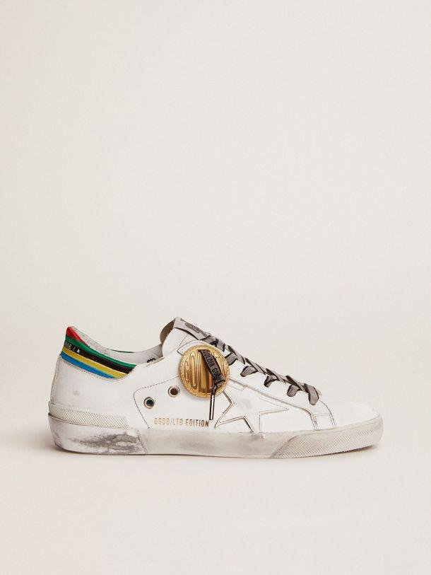 Super-Star Game EDT Capsule Collection sneakers in white with multicolored heel tab