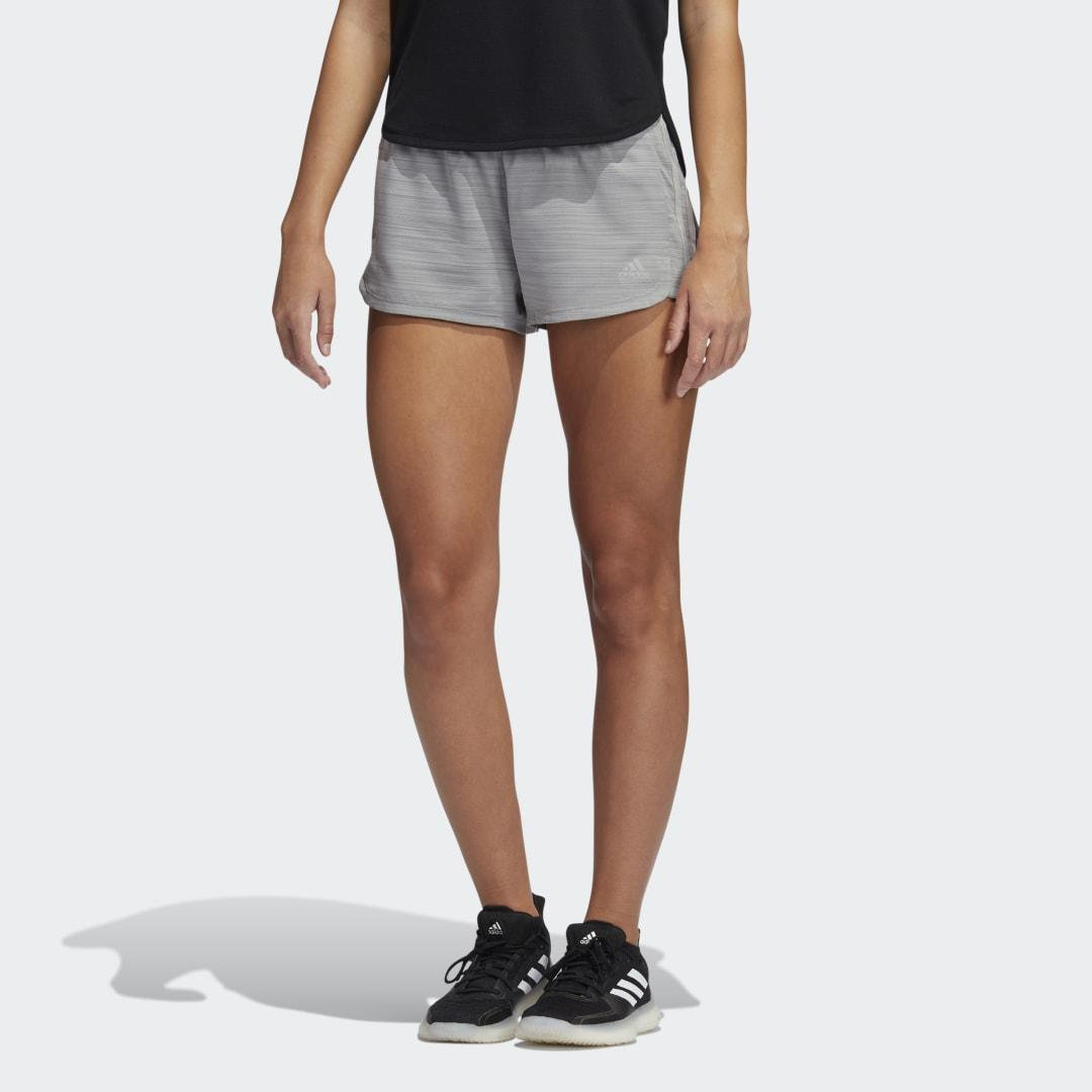 Pacer 3-Stripes Woven Heather Shorts Mgh Solid Grey