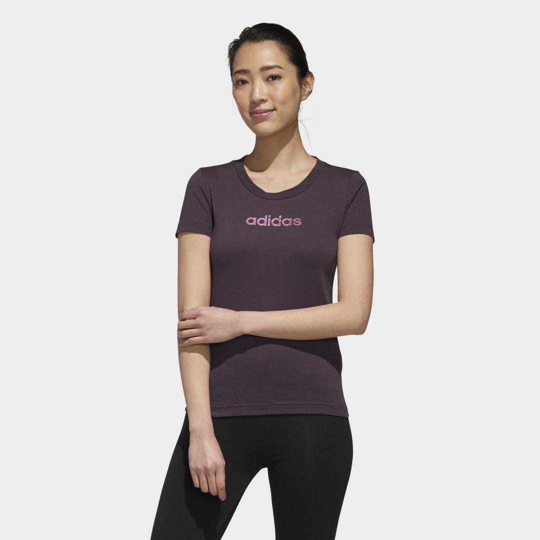 Essentials Branded Tee Noble Purple S - Womens Training T Shirts