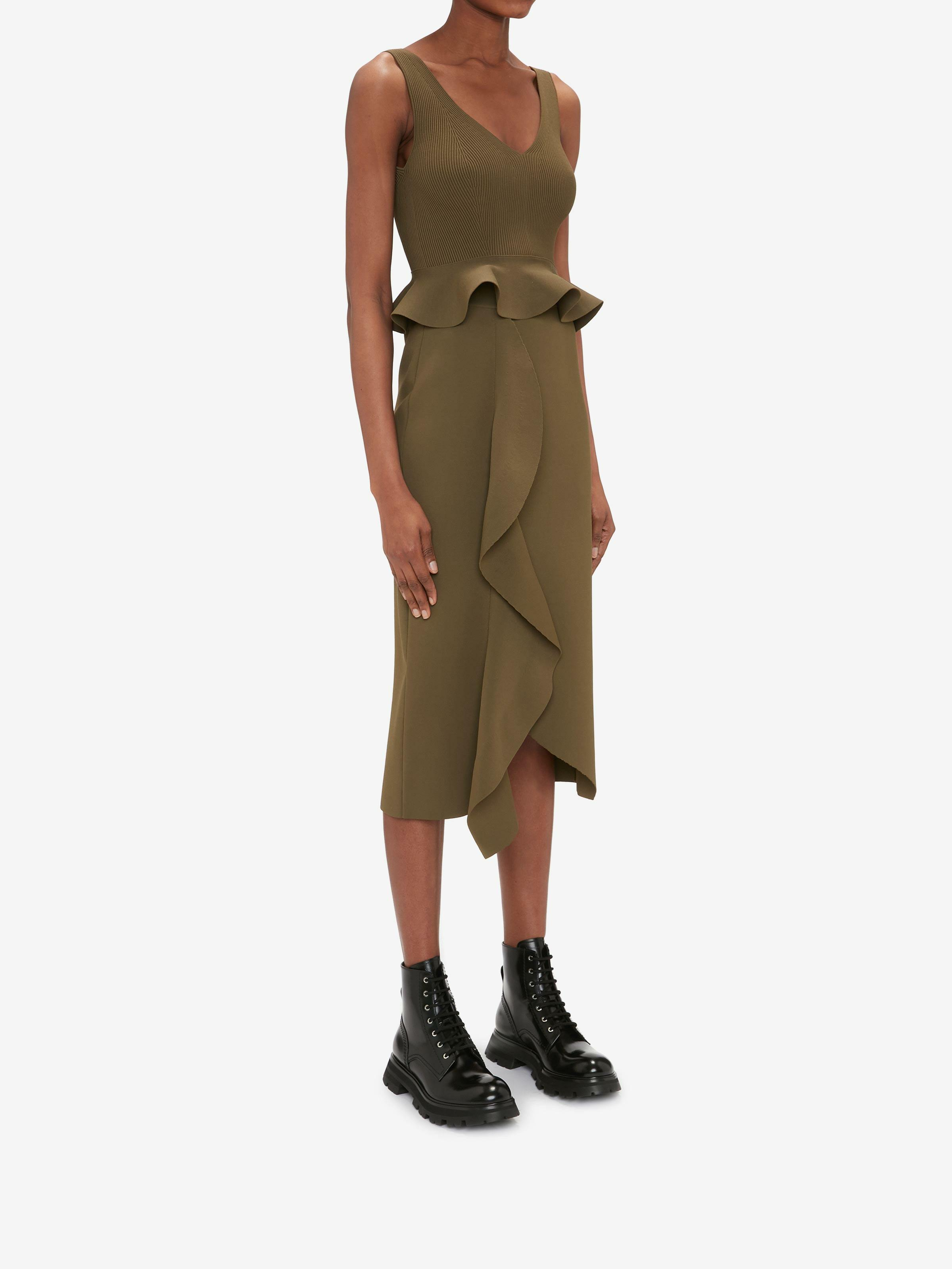 Engineered Sculpted Knit Pencil Skirt 1