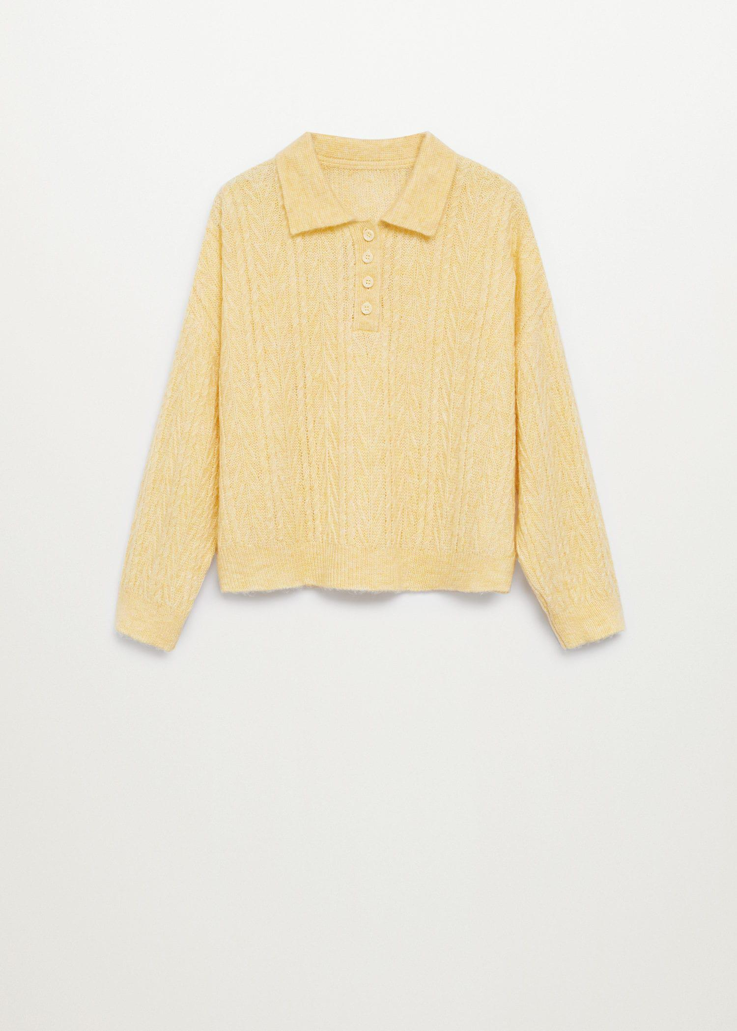 Contrasting knitted polo shirt 9